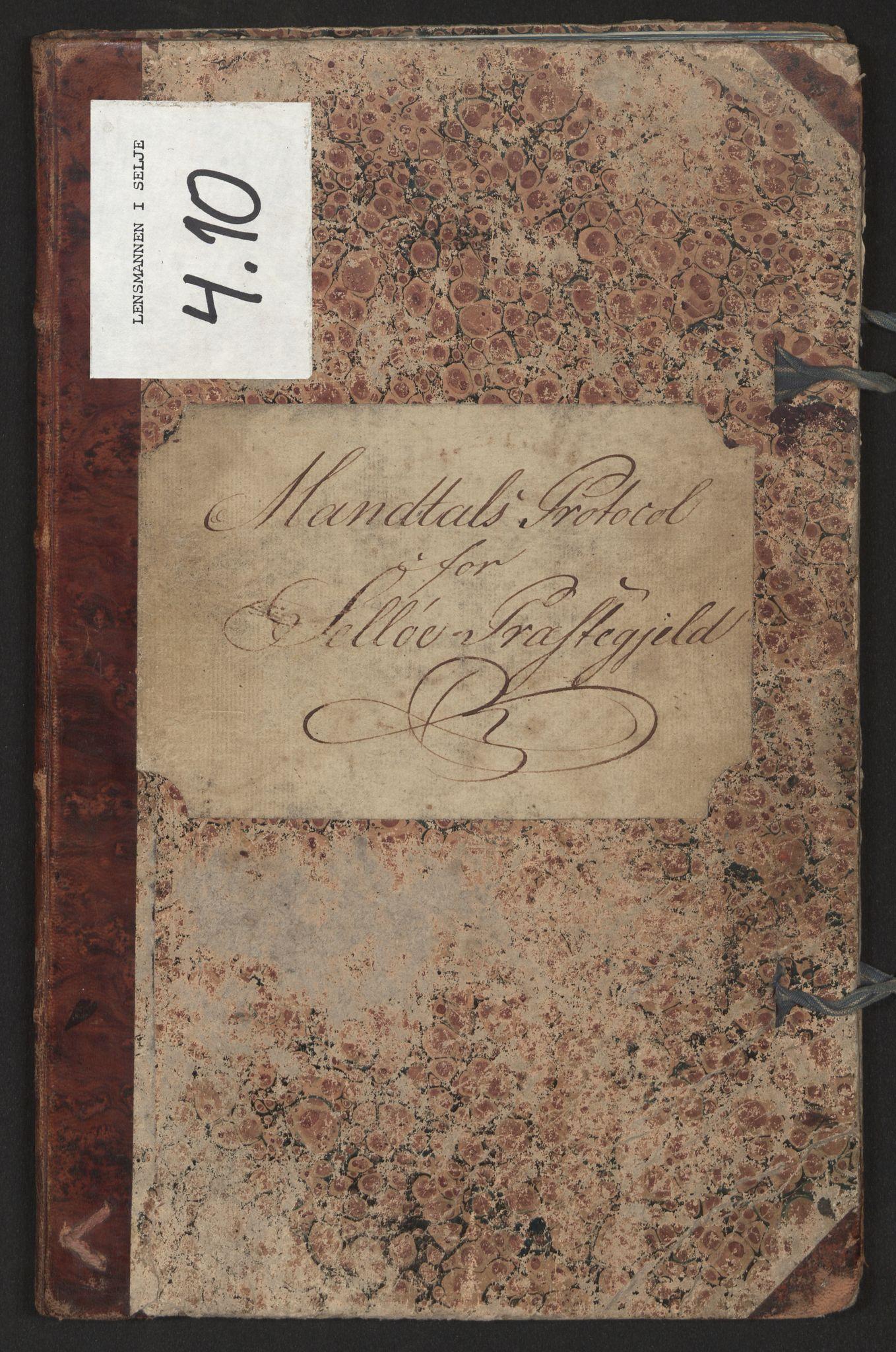 SAB, Lensmannen i Selje, 0004/L0010: Manntalsprotokoll, 1828-1891
