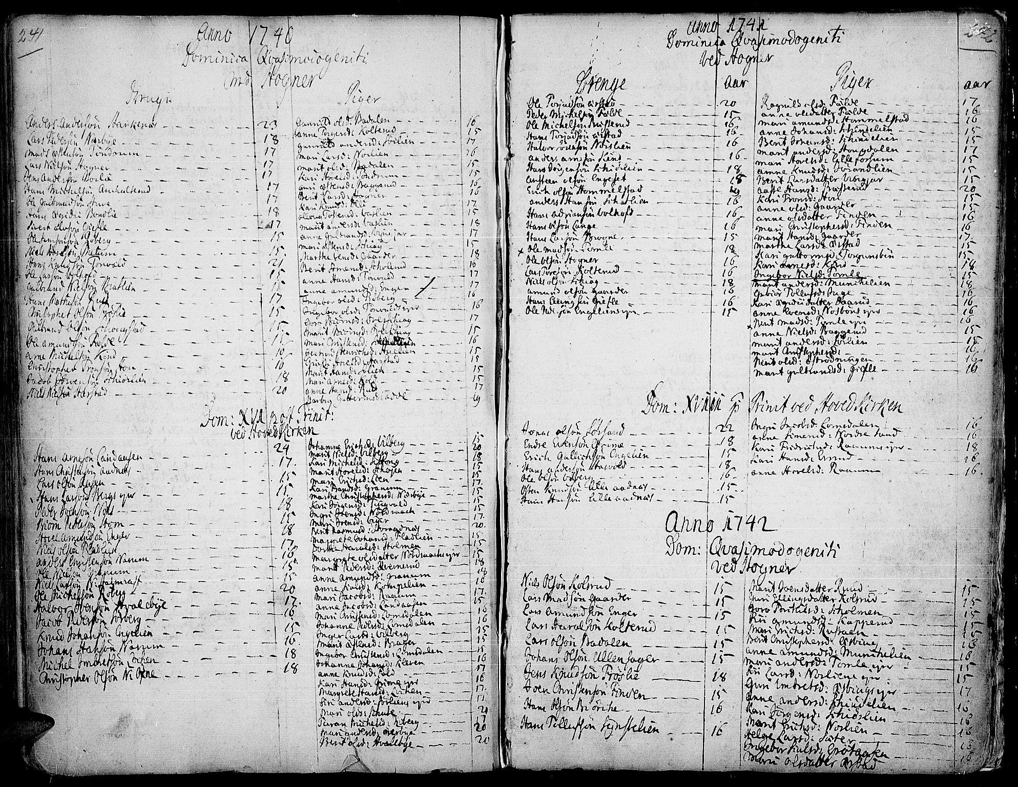 SAH, Land prestekontor, Ministerialbok nr. 2, 1733-1764, s. 241-242