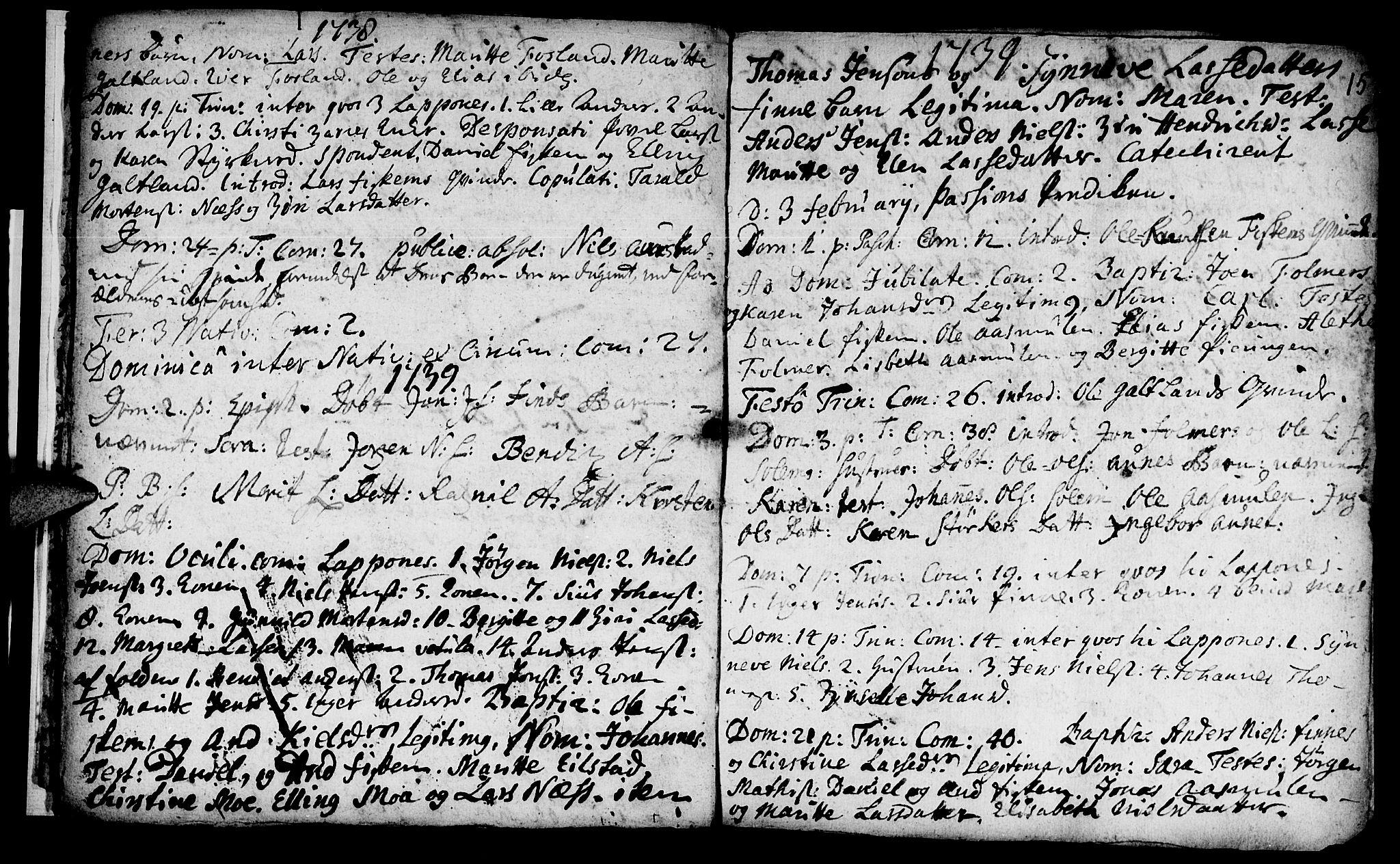 SAT, Ministerialprotokoller, klokkerbøker og fødselsregistre - Nord-Trøndelag, 759/L0525: Ministerialbok nr. 759A01, 1706-1748, s. 15
