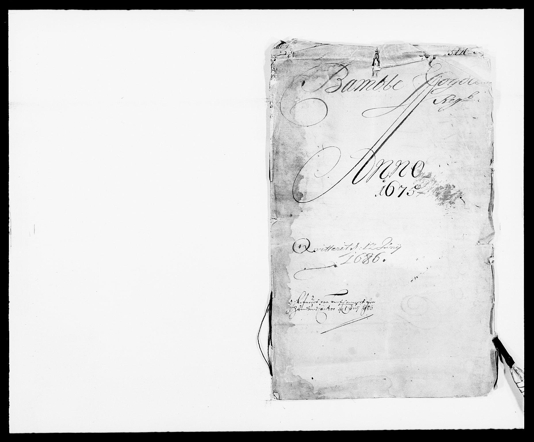 RA, Rentekammeret inntil 1814, Reviderte regnskaper, Fogderegnskap, R34/L2042: Fogderegnskap Bamble, 1673-1675, s. 277