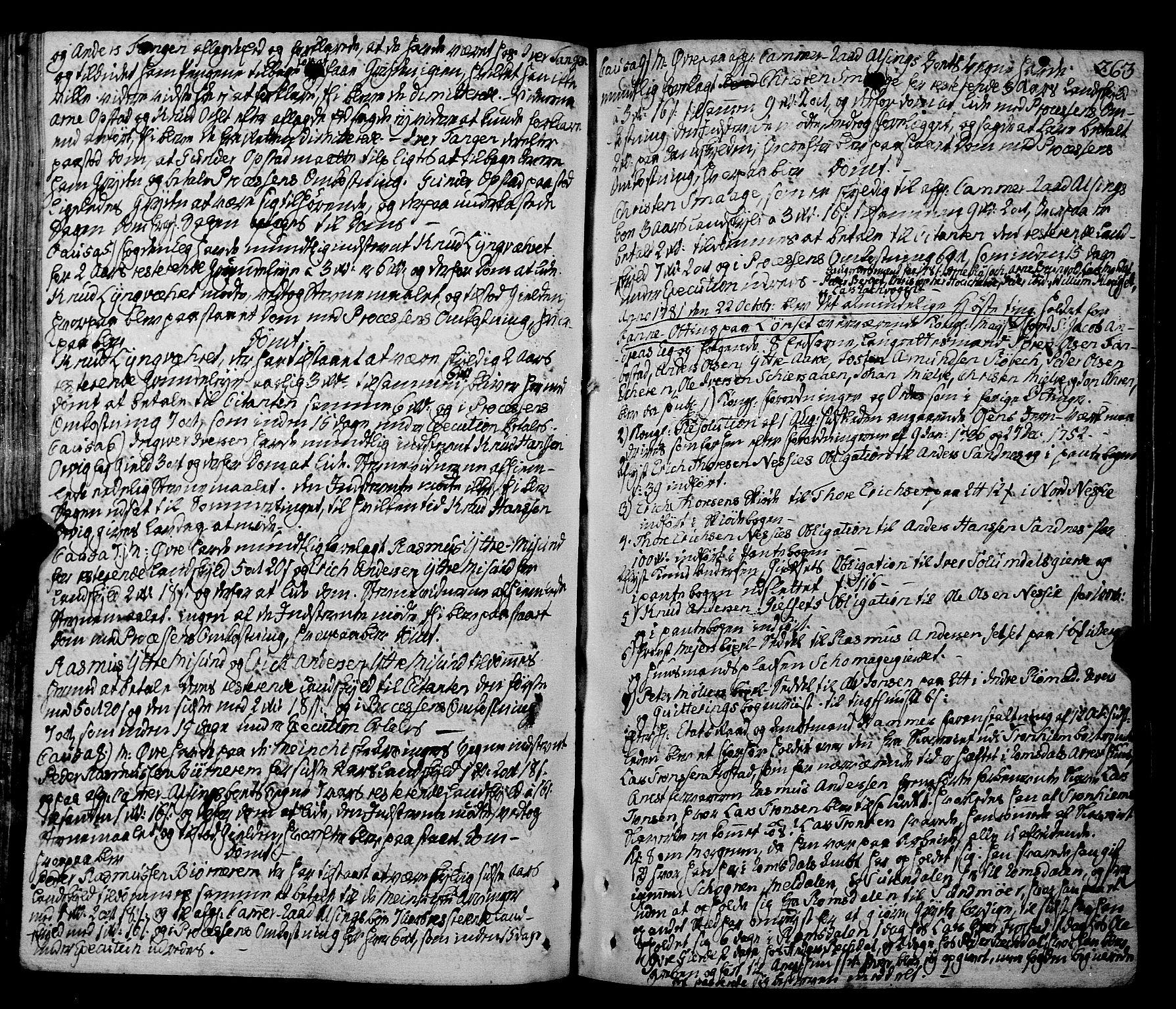 SAT, Romsdal sorenskriveri, 1/1A/L0016: Tingbok, 1775-1788, s. 262b-263a