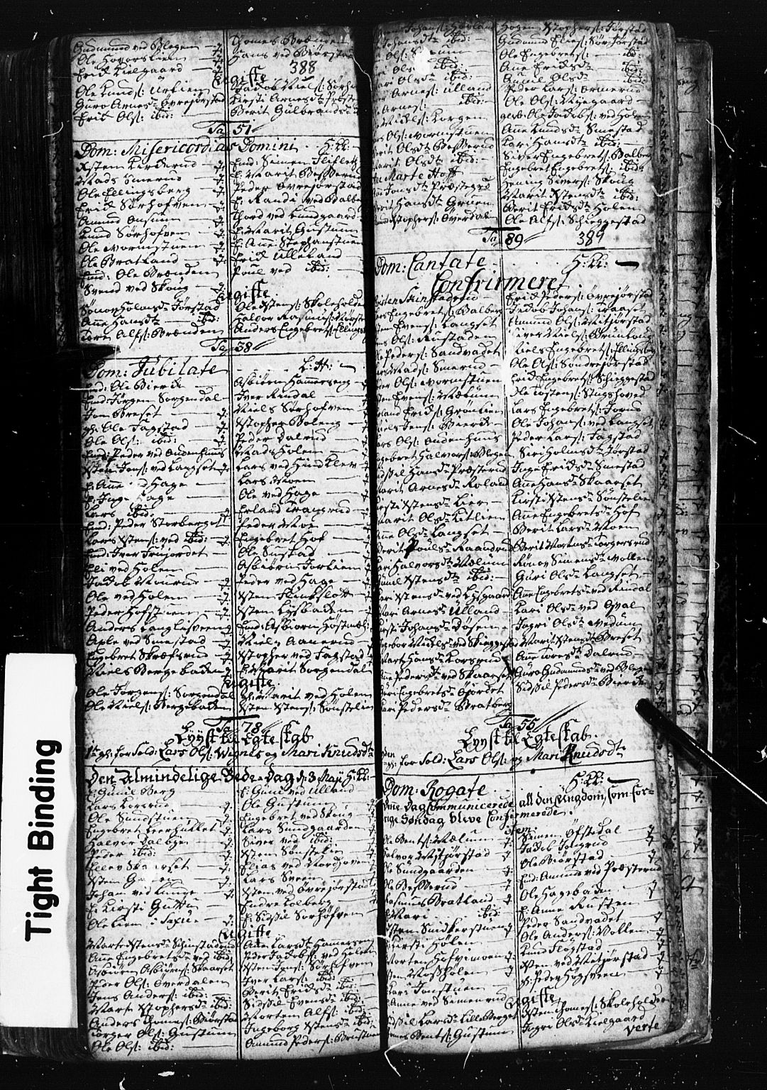 SAH, Fåberg prestekontor, Klokkerbok nr. 1, 1727-1767, s. 388-389