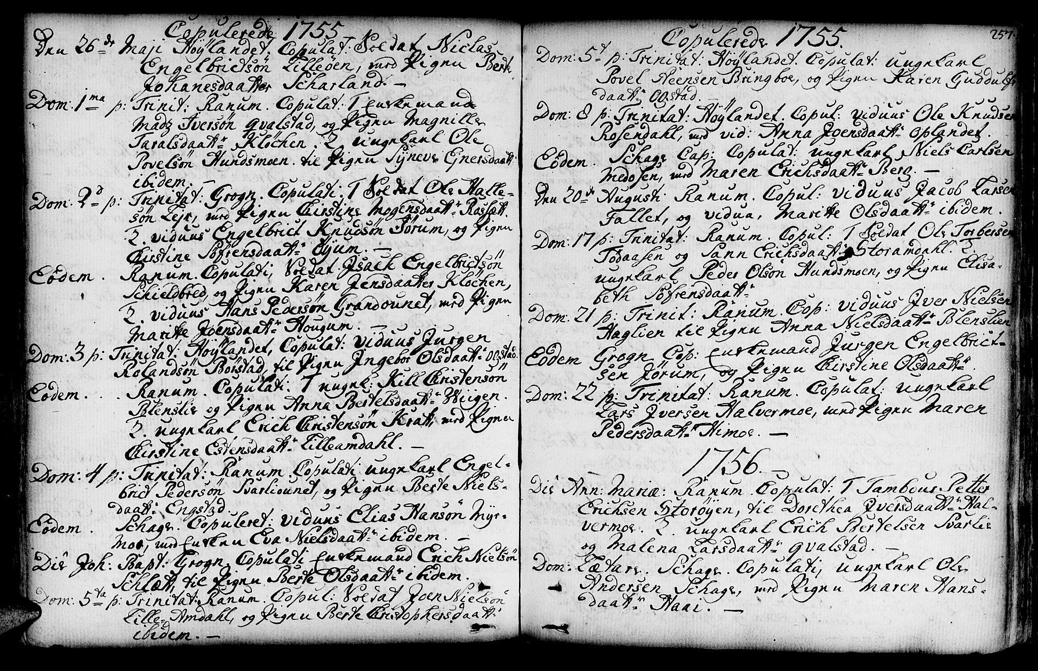 SAT, Ministerialprotokoller, klokkerbøker og fødselsregistre - Nord-Trøndelag, 764/L0542: Ministerialbok nr. 764A02, 1748-1779, s. 257