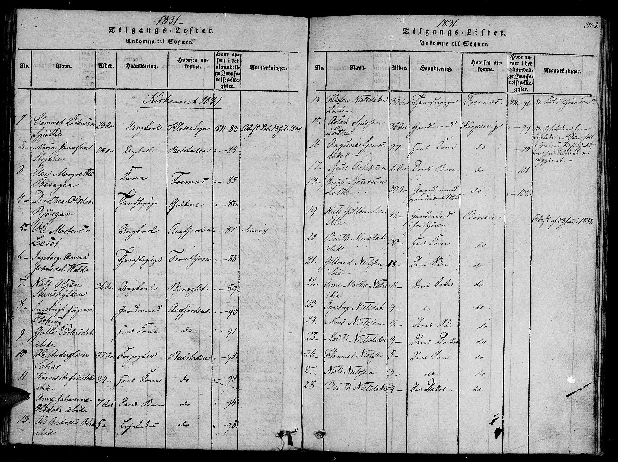 SAT, Ministerialprotokoller, klokkerbøker og fødselsregistre - Sør-Trøndelag, 657/L0702: Ministerialbok nr. 657A03, 1818-1831, s. 302