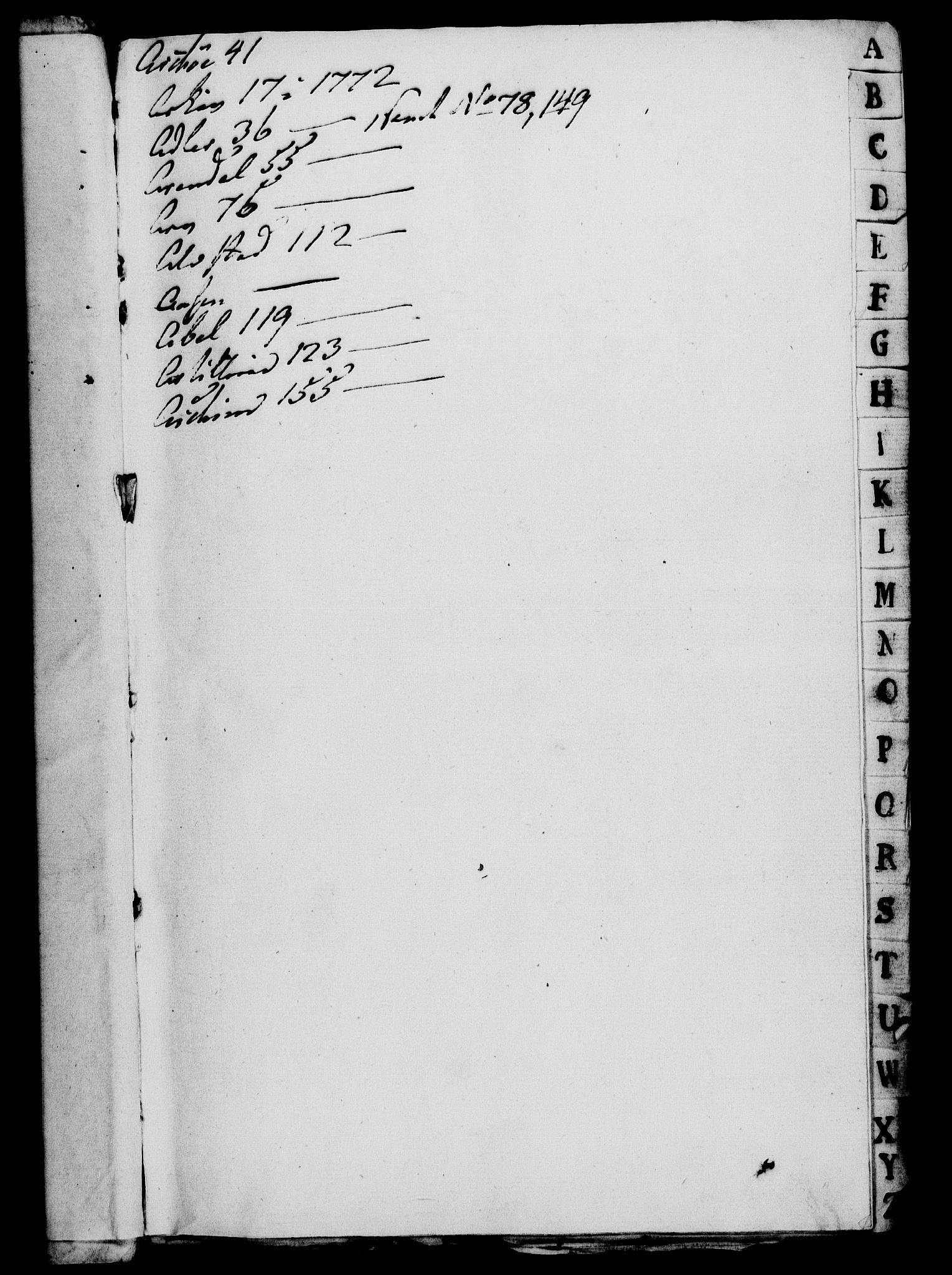 RA, Rentekammeret, Kammerkanselliet, G/Gf/Gfa/L0054: Norsk relasjons- og resolusjonsprotokoll (merket RK 52.54), 1771-1772, s. 3