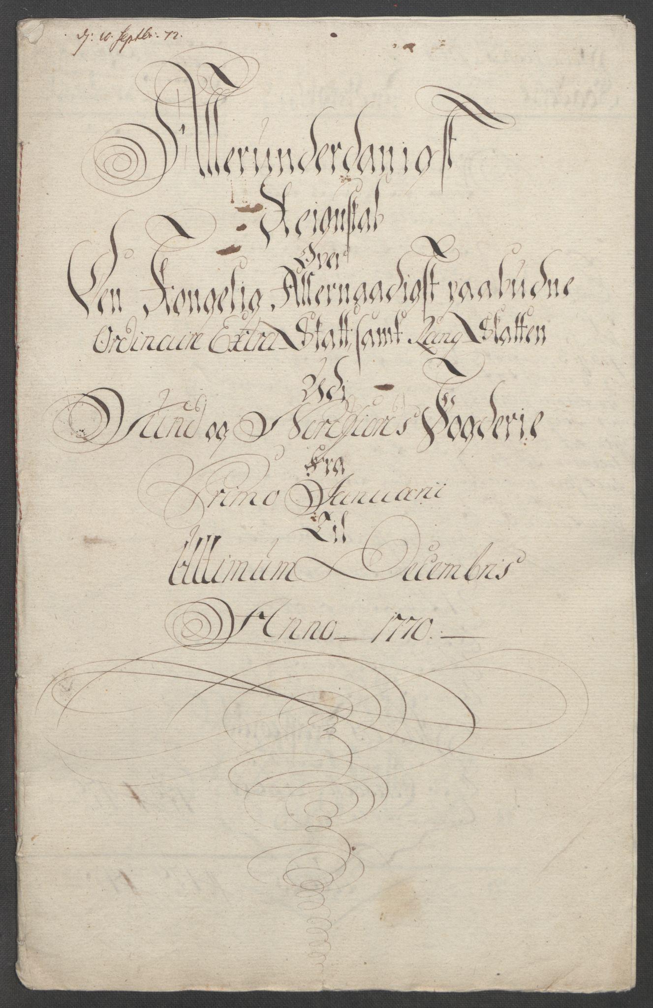 RA, Rentekammeret inntil 1814, Reviderte regnskaper, Fogderegnskap, R53/L3550: Ekstraskatten Sunn- og Nordfjord, 1762-1771, s. 291