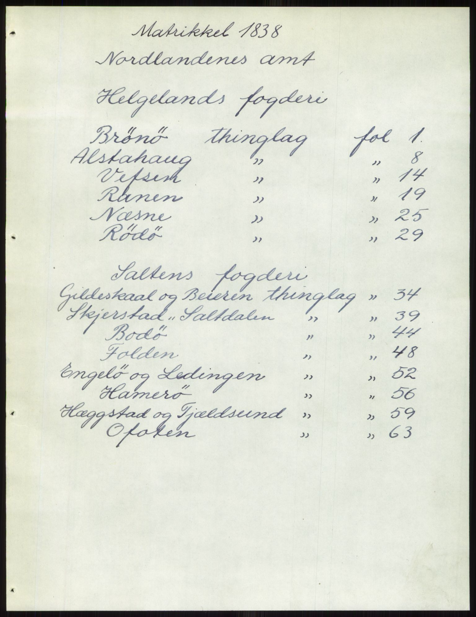 PUBL, Andre publikasjoner, -/Bind 17: Nordlands amt, 1838, s. 1