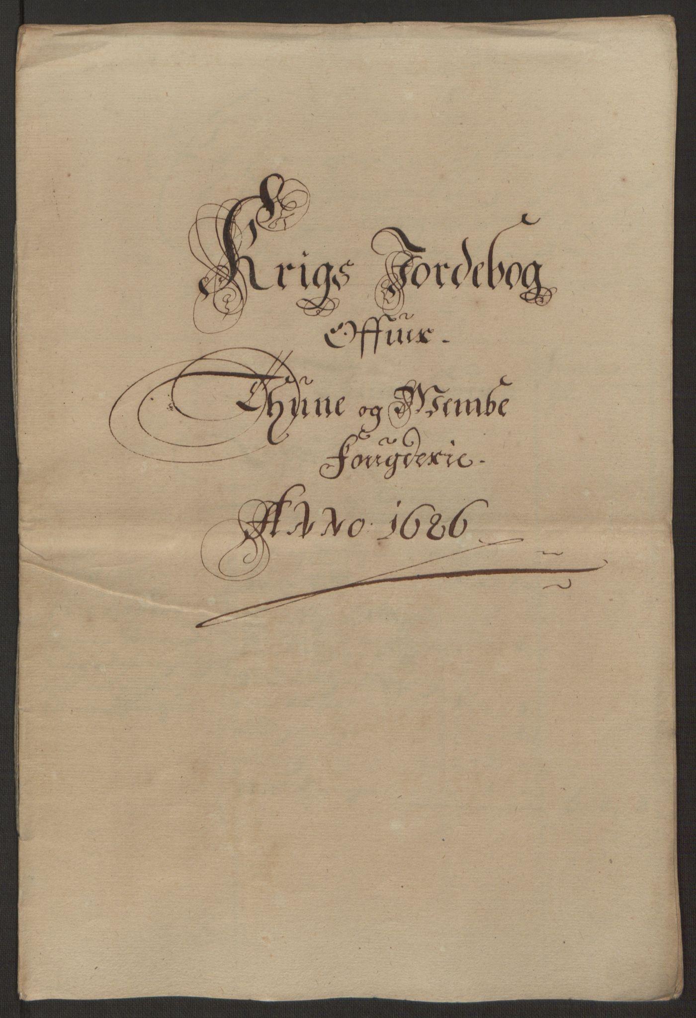 RA, Rentekammeret inntil 1814, Reviderte regnskaper, Fogderegnskap, R03/L0118: Fogderegnskap Onsøy, Tune, Veme og Åbygge fogderi, 1684-1689, s. 203