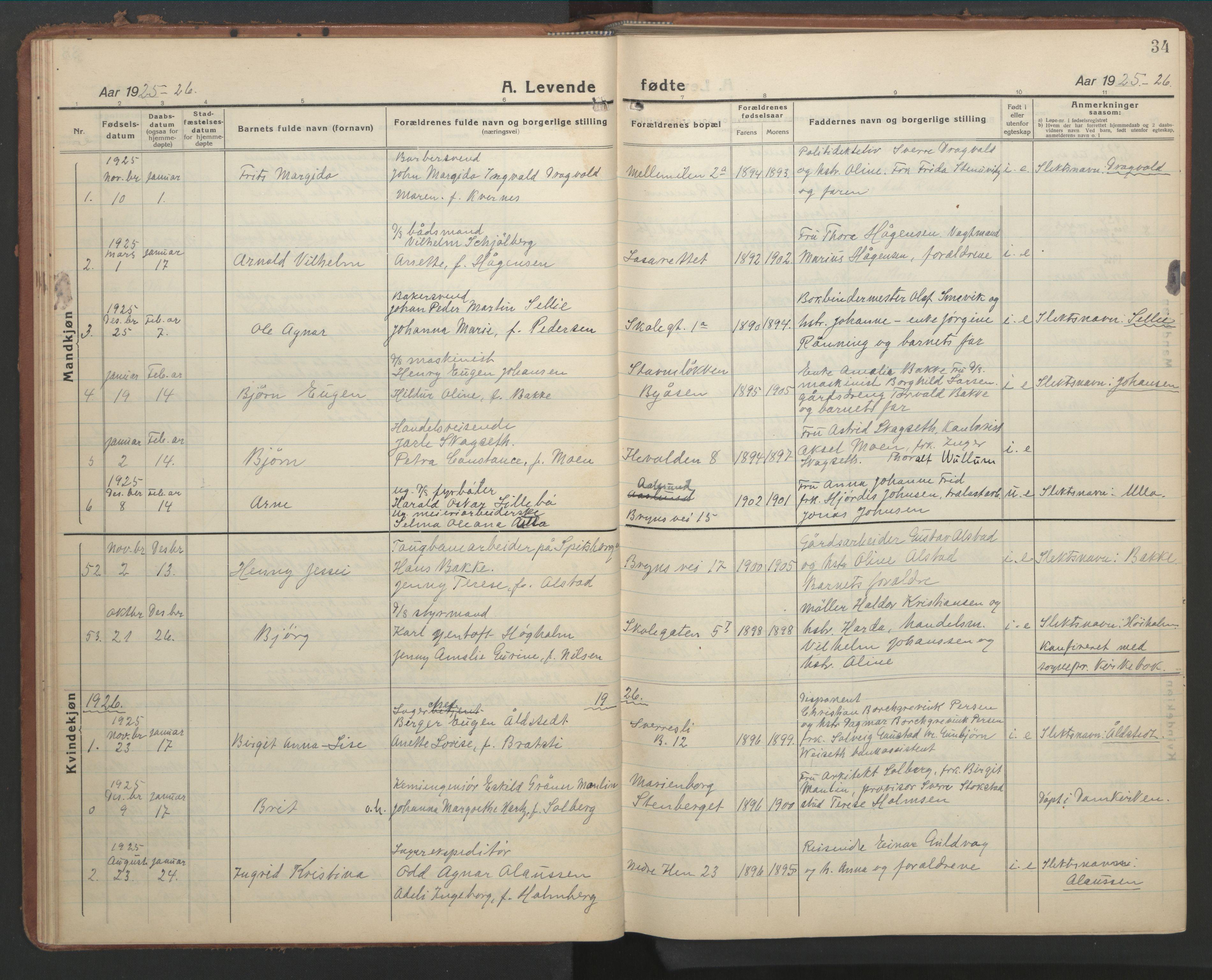 SAT, Ministerialprotokoller, klokkerbøker og fødselsregistre - Sør-Trøndelag, 603/L0174: Klokkerbok nr. 603C02, 1923-1951, s. 34