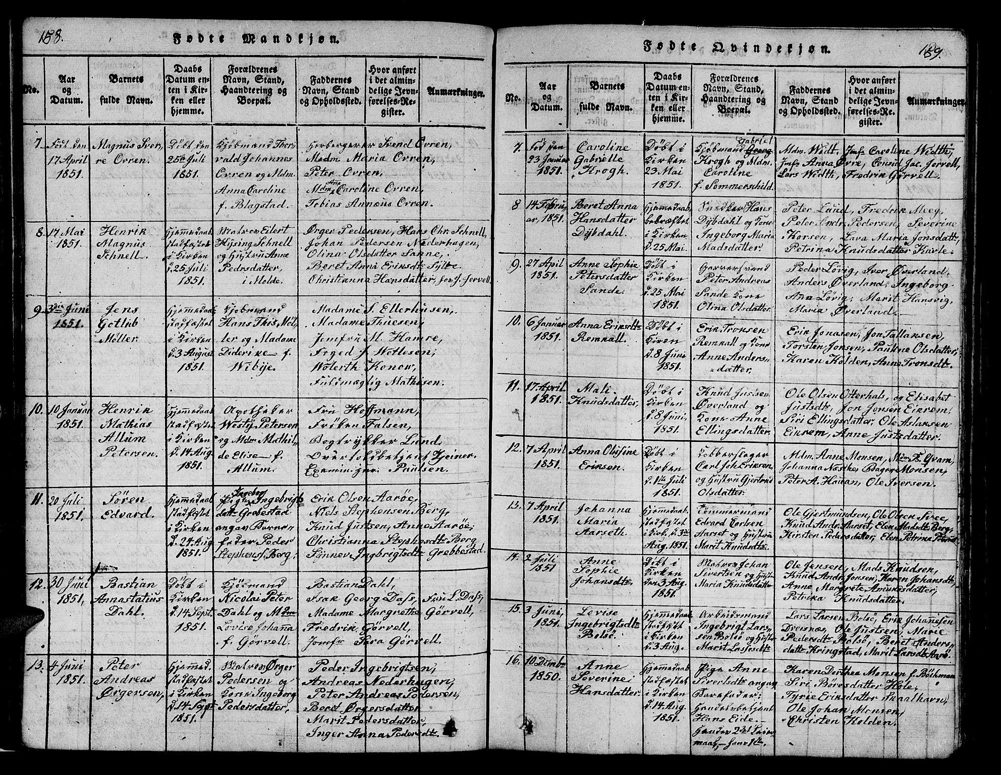 SAT, Ministerialprotokoller, klokkerbøker og fødselsregistre - Møre og Romsdal, 558/L0700: Klokkerbok nr. 558C01, 1818-1868, s. 158-159