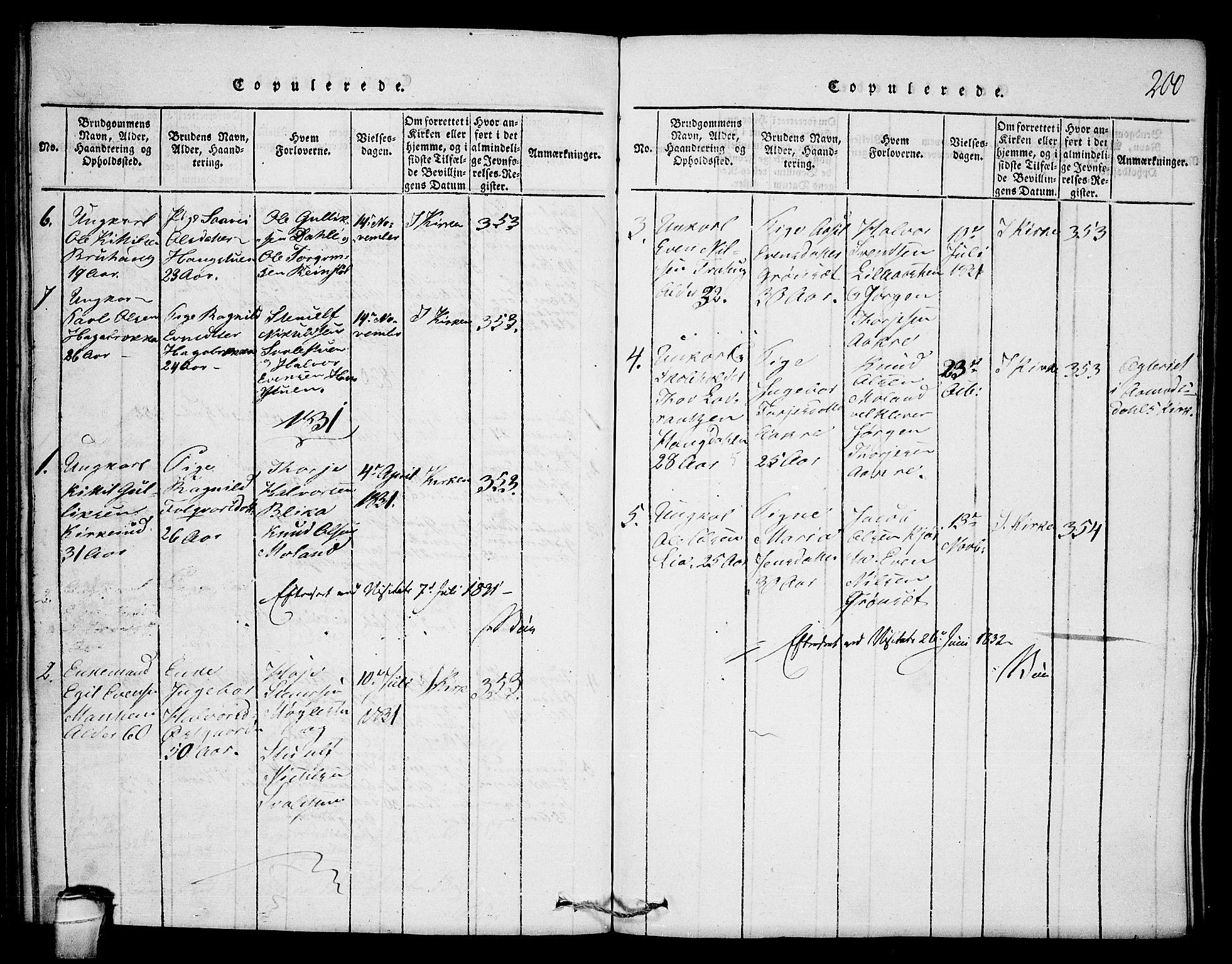 SAKO, Seljord kirkebøker, F/Fb/L0001: Ministerialbok nr. II 1, 1815-1831, s. 200