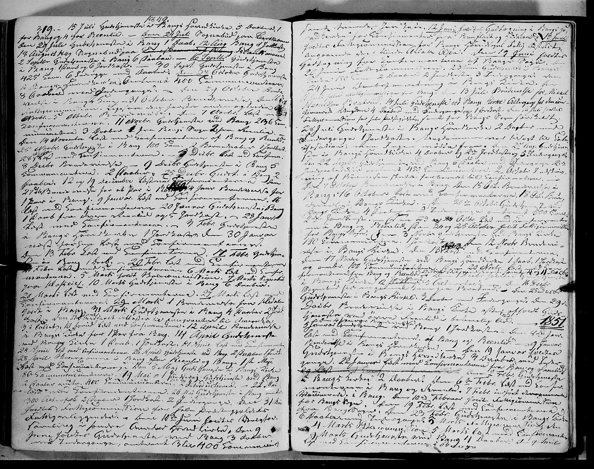 SAH, Sør-Aurdal prestekontor, Ministerialbok nr. 5, 1849-1876, s. 319