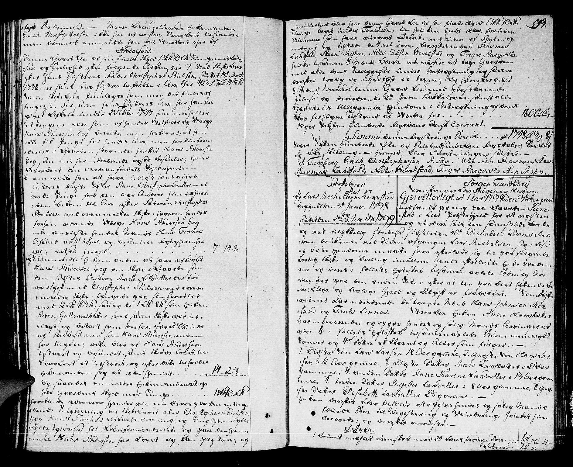 SAKO, Lier, Røyken og Hurum sorenskriveri, H/Hc/L0007a: Skifteprotokoll, 1789-1799, s. 592b-593a