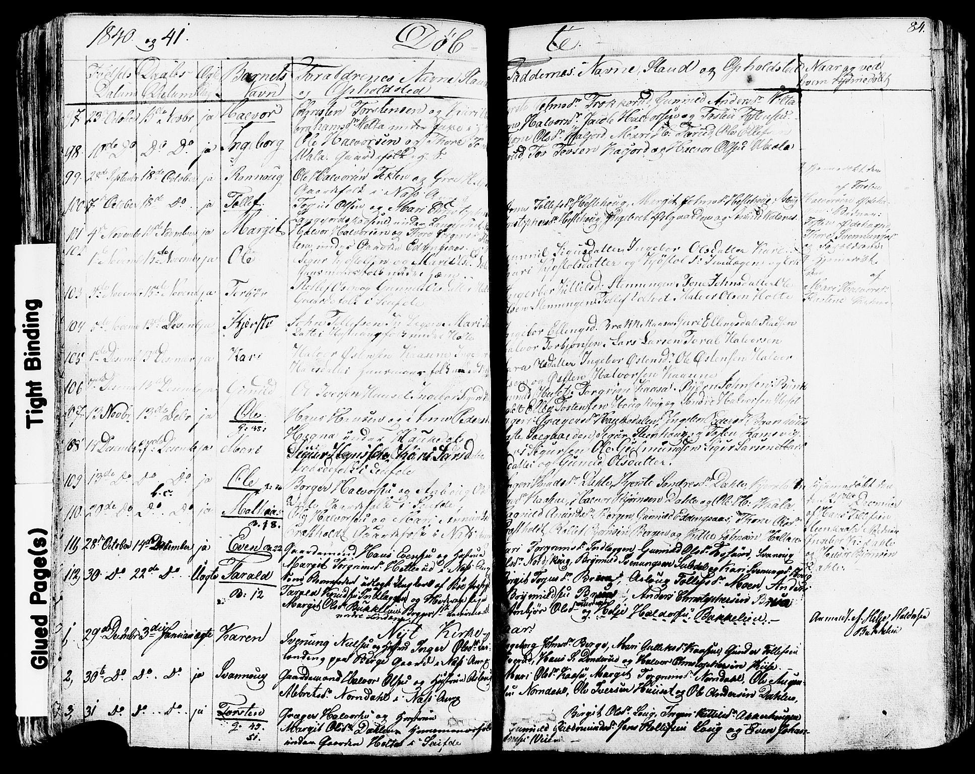 SAKO, Sauherad kirkebøker, F/Fa/L0006: Ministerialbok nr. I 6, 1827-1850, s. 84