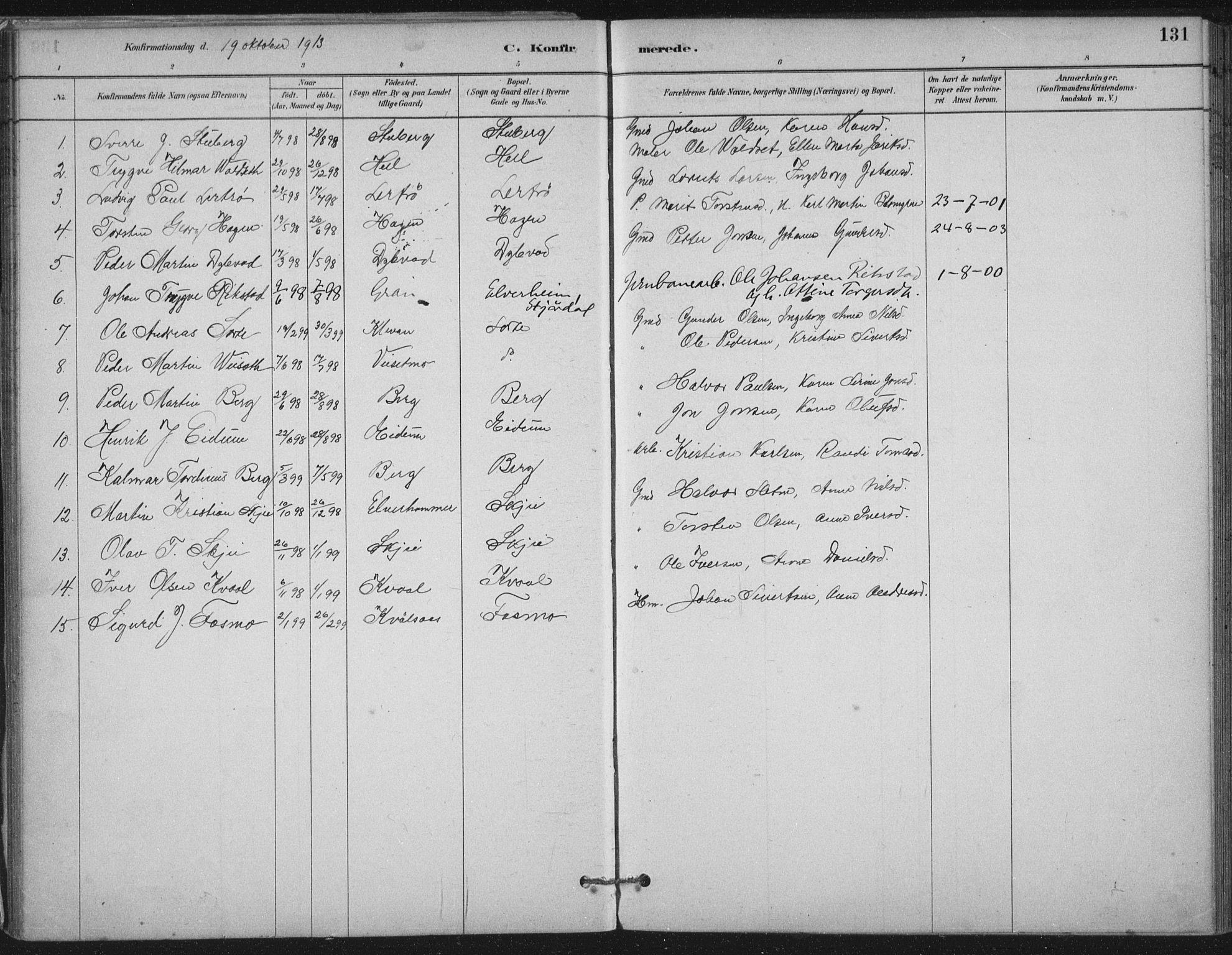 SAT, Ministerialprotokoller, klokkerbøker og fødselsregistre - Nord-Trøndelag, 710/L0095: Ministerialbok nr. 710A01, 1880-1914, s. 131