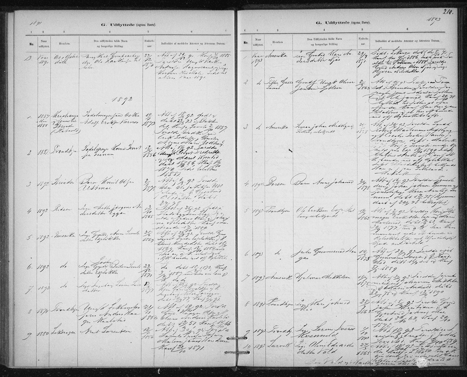 SAT, Ministerialprotokoller, klokkerbøker og fødselsregistre - Sør-Trøndelag, 613/L0392: Ministerialbok nr. 613A01, 1887-1906, s. 210