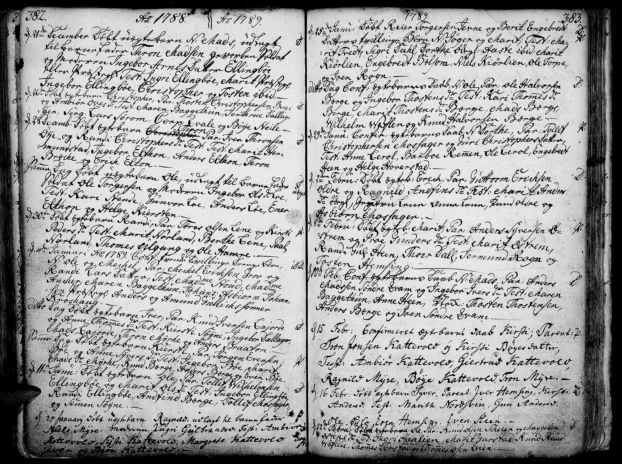 SAH, Vang prestekontor, Valdres, Ministerialbok nr. 1, 1730-1796, s. 382-383