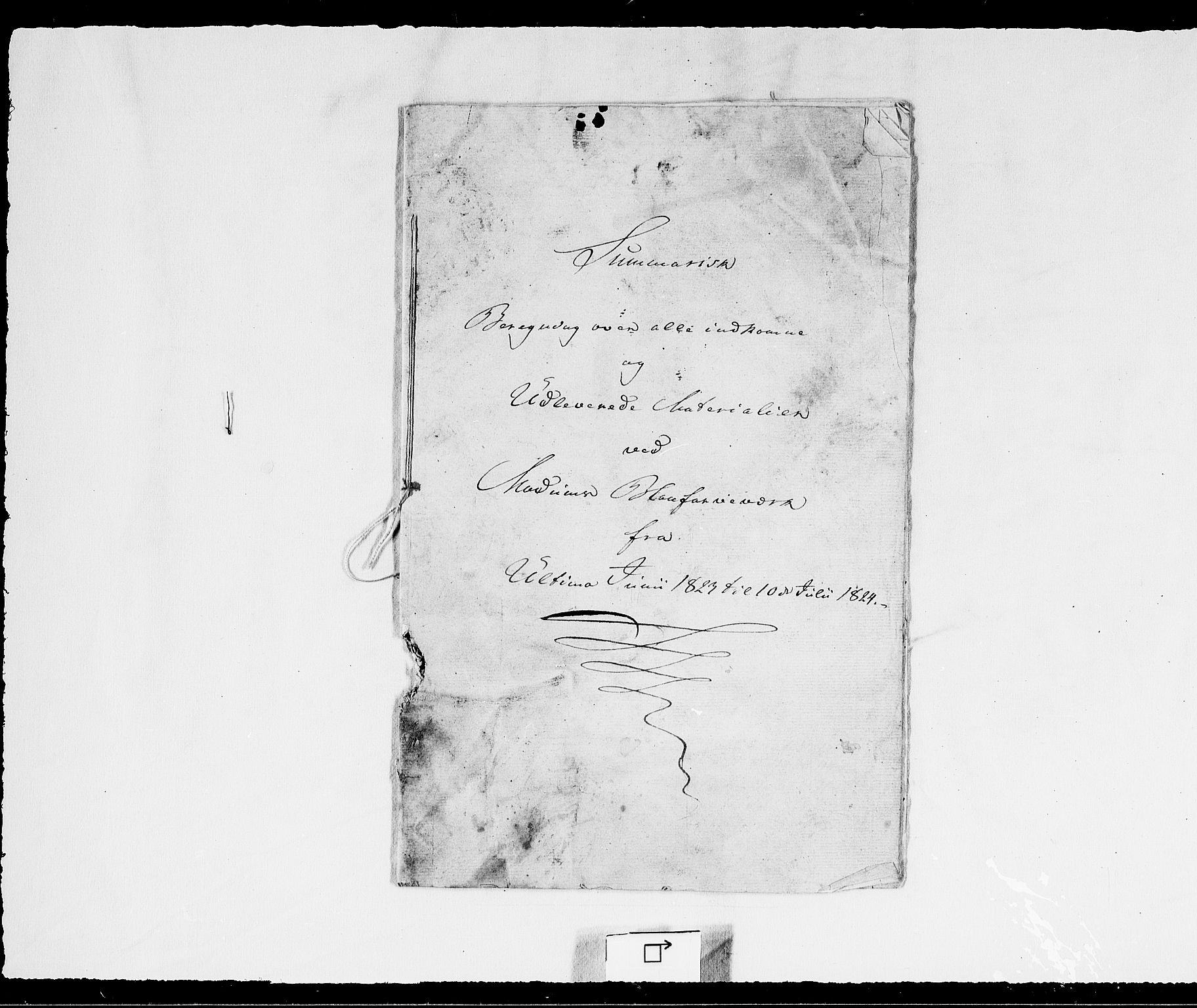 RA, Modums Blaafarveværk, G/Gd/Gdd/L0245, 1823-1829, s. 2