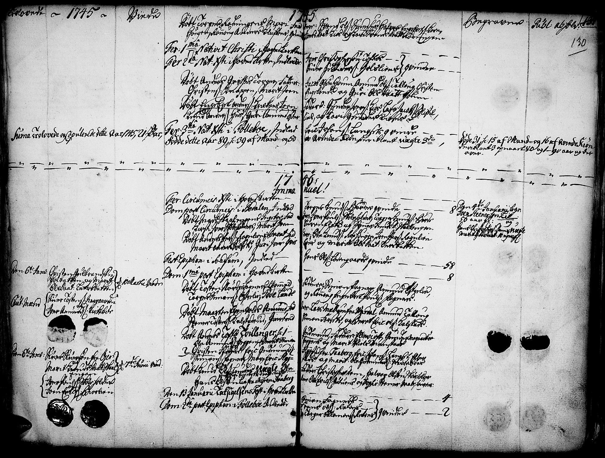 SAH, Gausdal prestekontor, Ministerialbok nr. 2, 1729-1757, s. 130