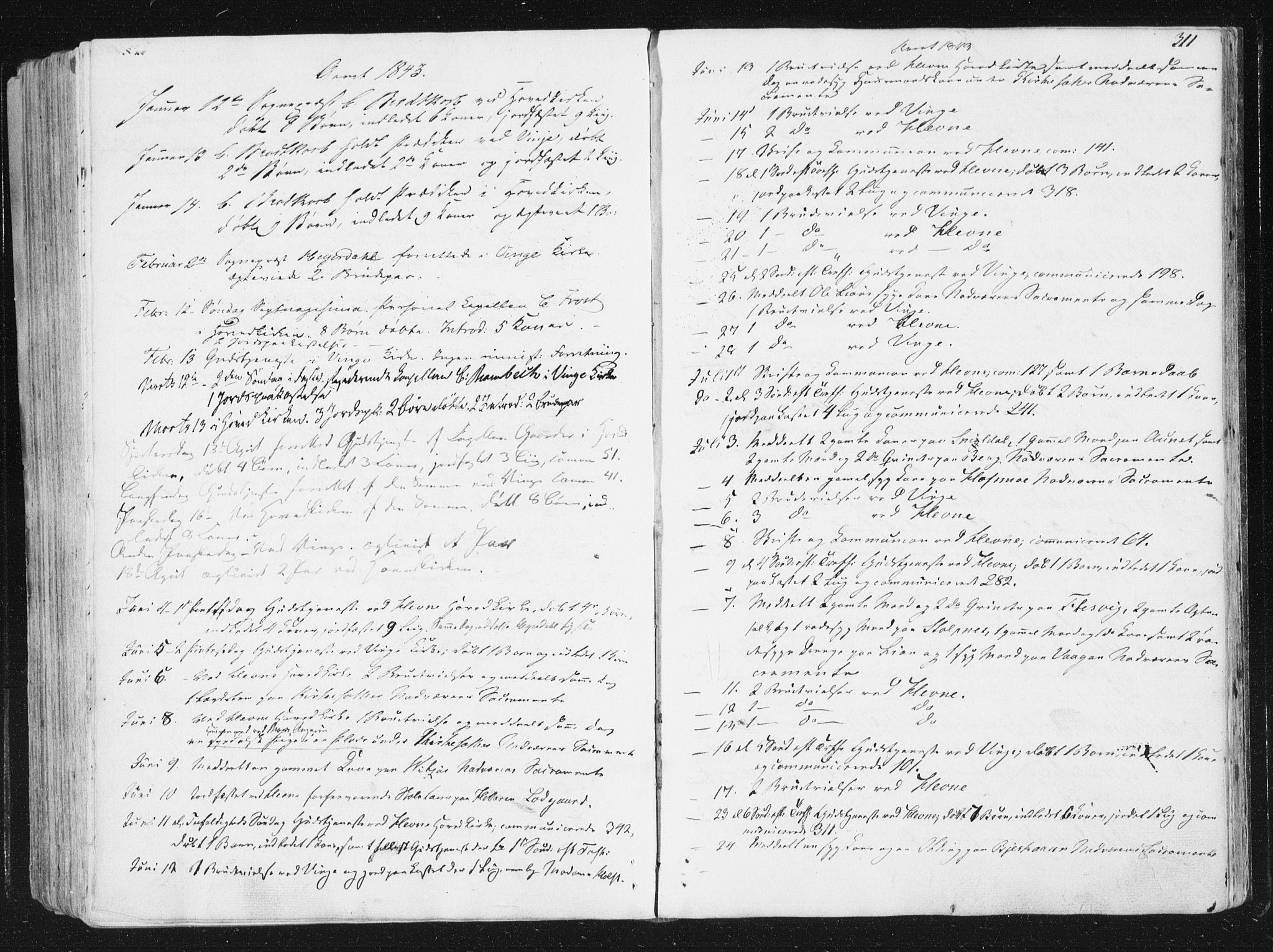 SAT, Ministerialprotokoller, klokkerbøker og fødselsregistre - Sør-Trøndelag, 630/L0493: Ministerialbok nr. 630A06, 1841-1851, s. 311
