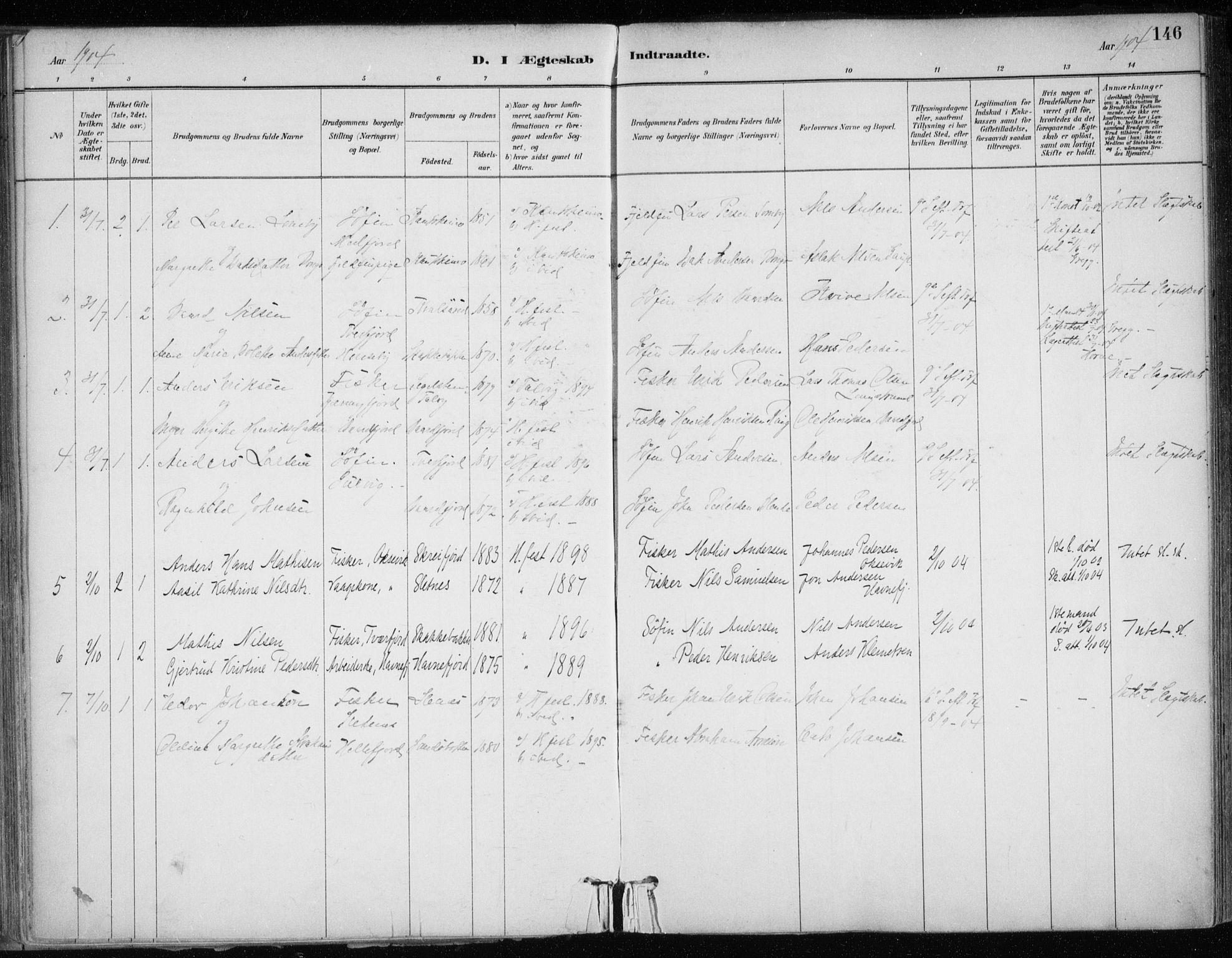 SATØ, Hammerfest sokneprestkontor, H/Ha/L0013.kirke: Ministerialbok nr. 13, 1898-1917, s. 146