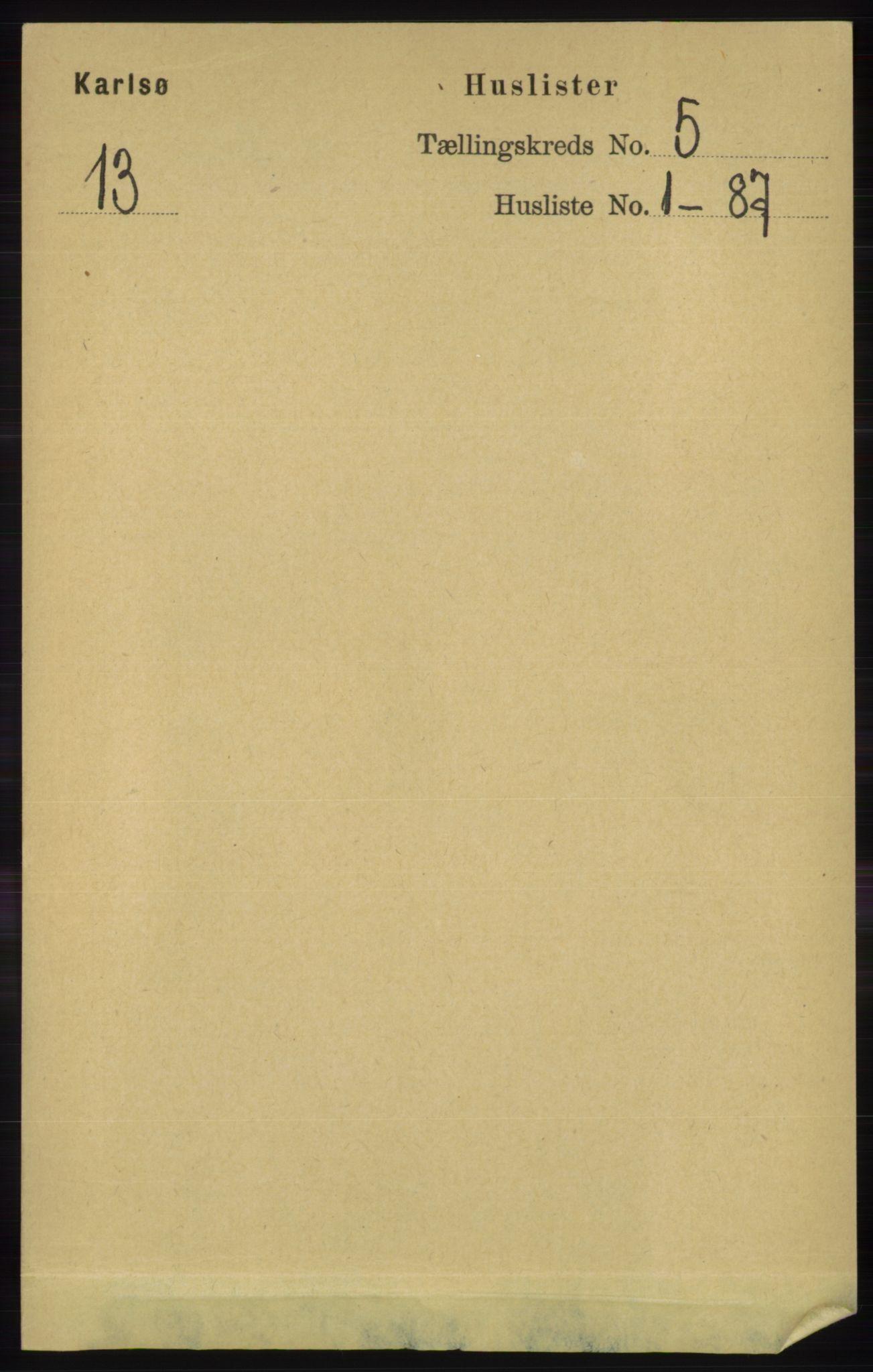 RA, Folketelling 1891 for 1936 Karlsøy herred, 1891, s. 1228