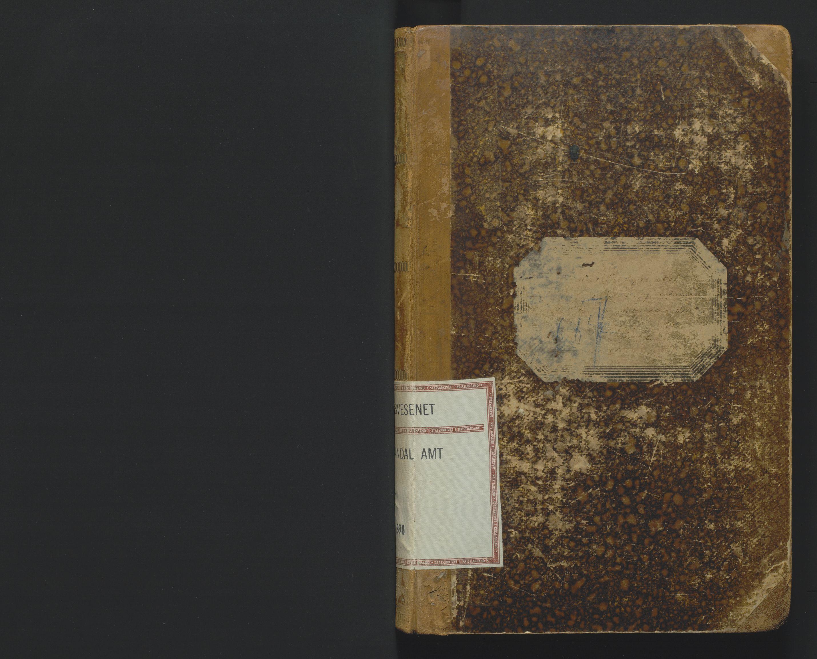 SAK, Utskiftningsformannen i Lister og Mandal amt, F/Fa/Faa/L0021: Utskiftningsprotokoll med register nr 21, 1895-1898