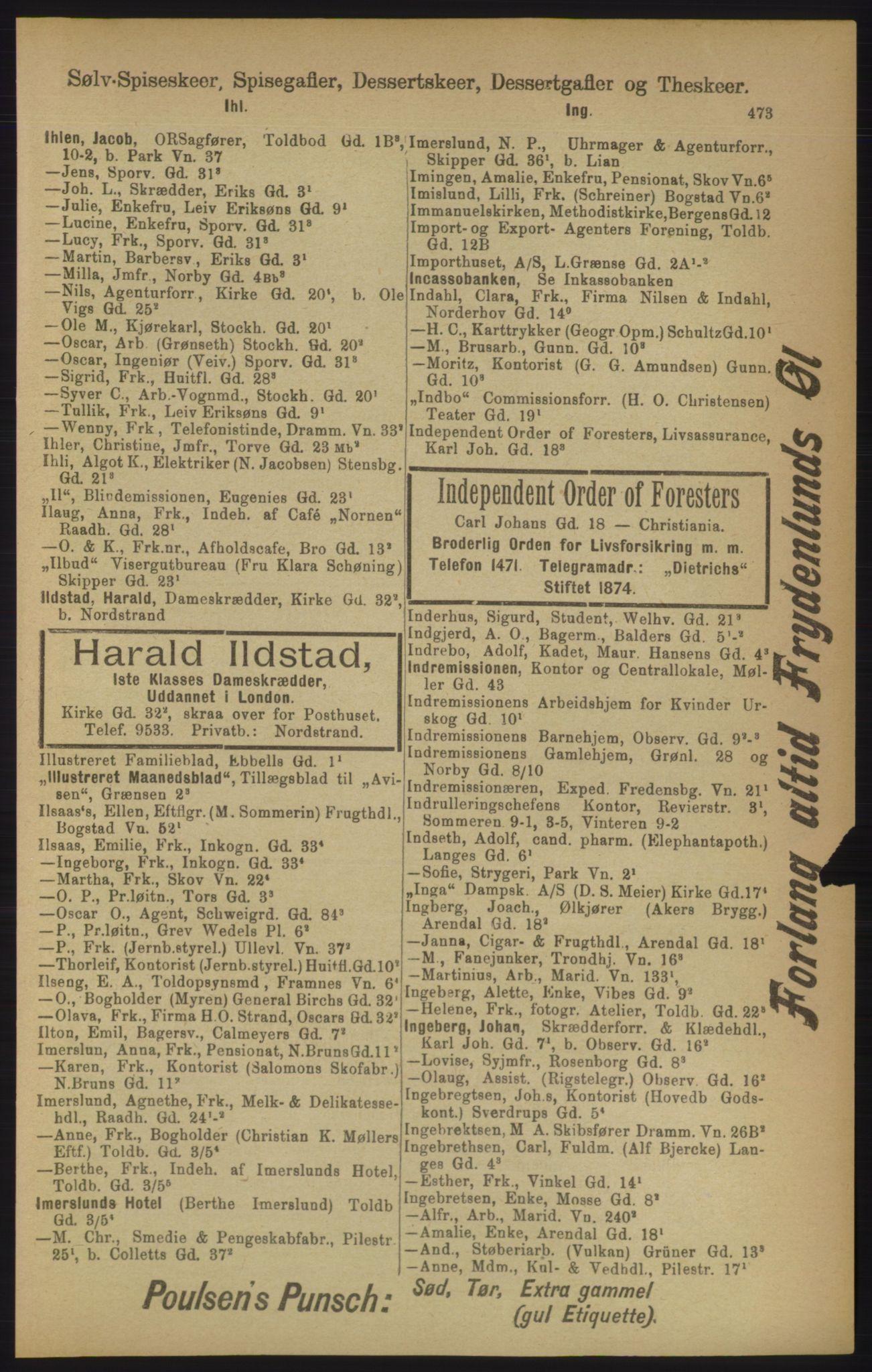 PUBL, Kristiania/Oslo adressebok, 1906, s. 473