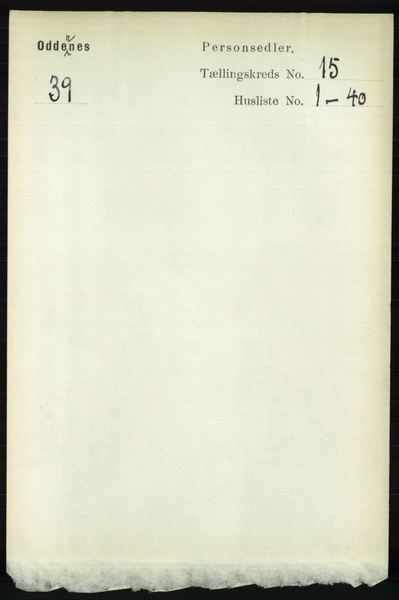 RA, Folketelling 1891 for 1012 Oddernes herred, 1891, s. 5052