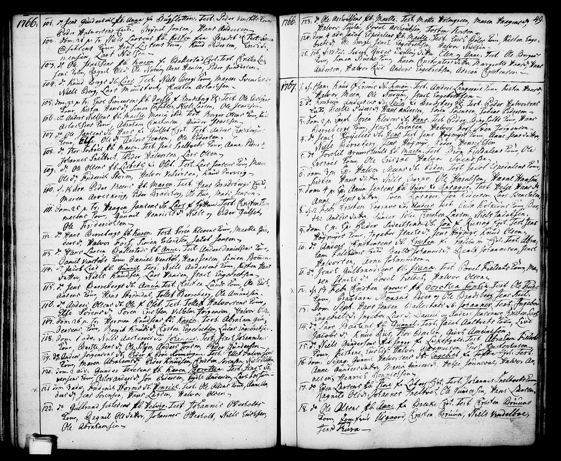 SAKO, Gjerpen kirkebøker, F/Fa/L0002: Ministerialbok nr. 2, 1747-1795, s. 49