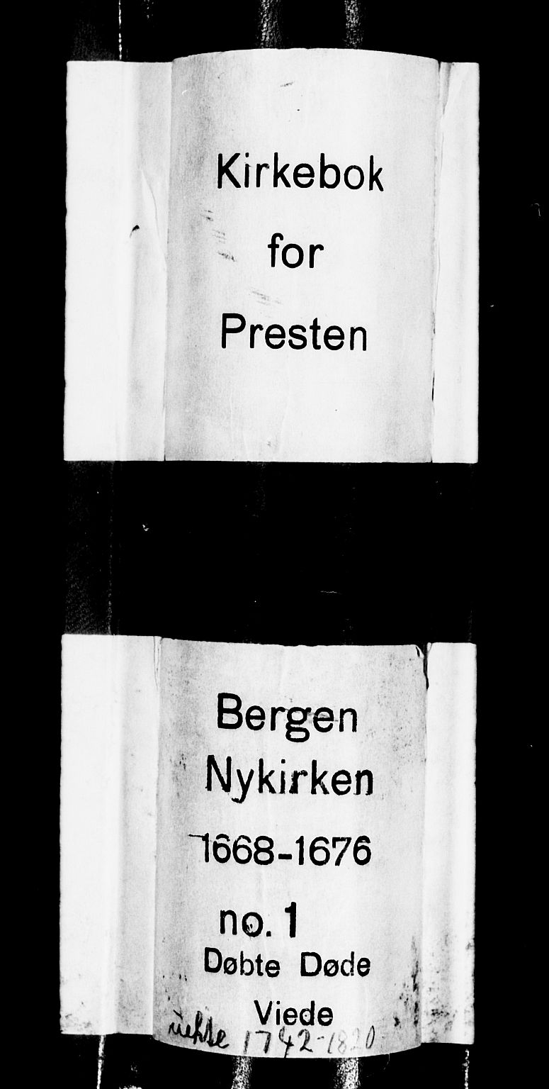 SAB, Nykirken Sokneprestembete, H/Haa: Ministerialbok nr. A 1, 1668-1820