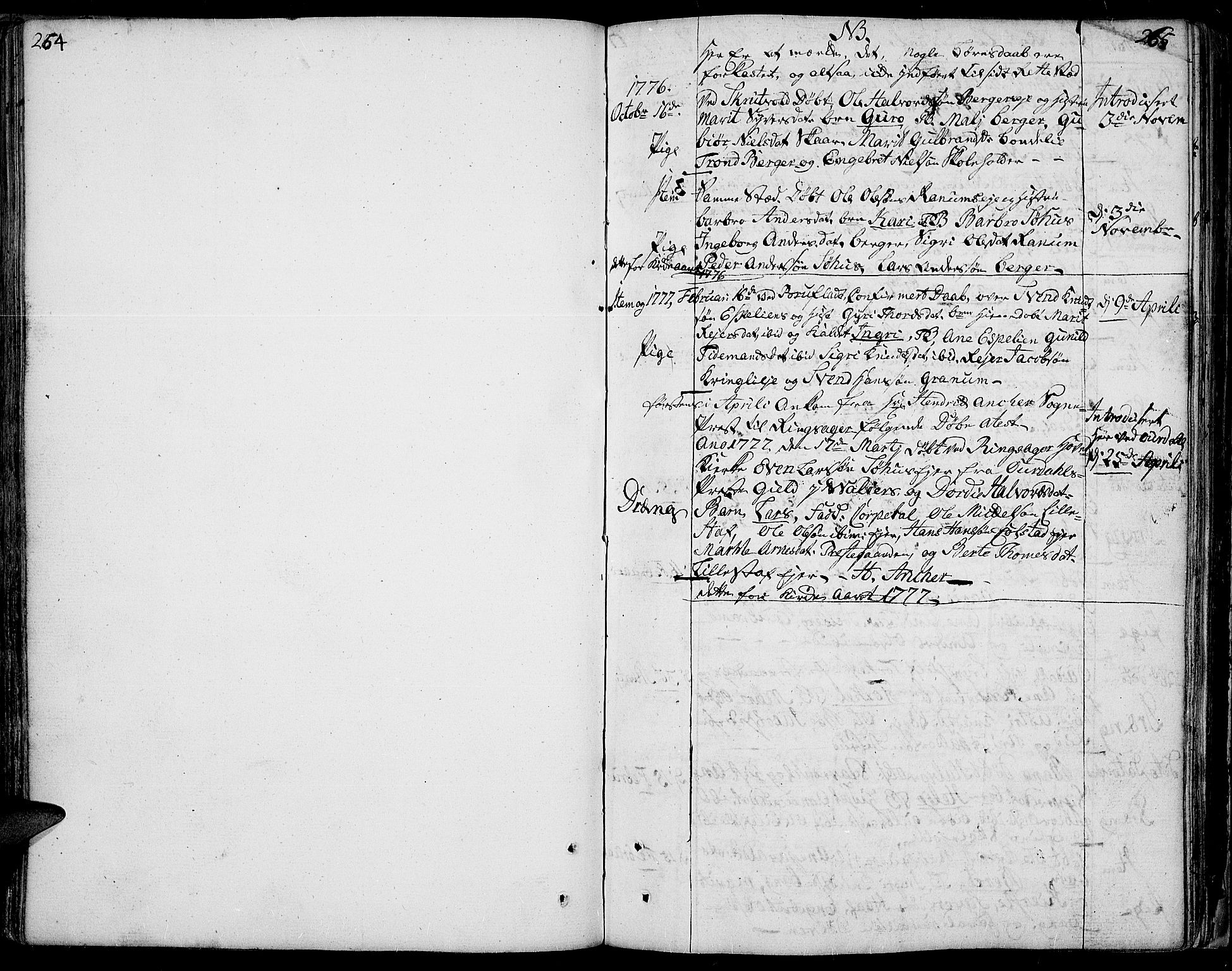 SAH, Aurdal prestekontor, Ministerialbok nr. 5, 1763-1781, s. 264-265