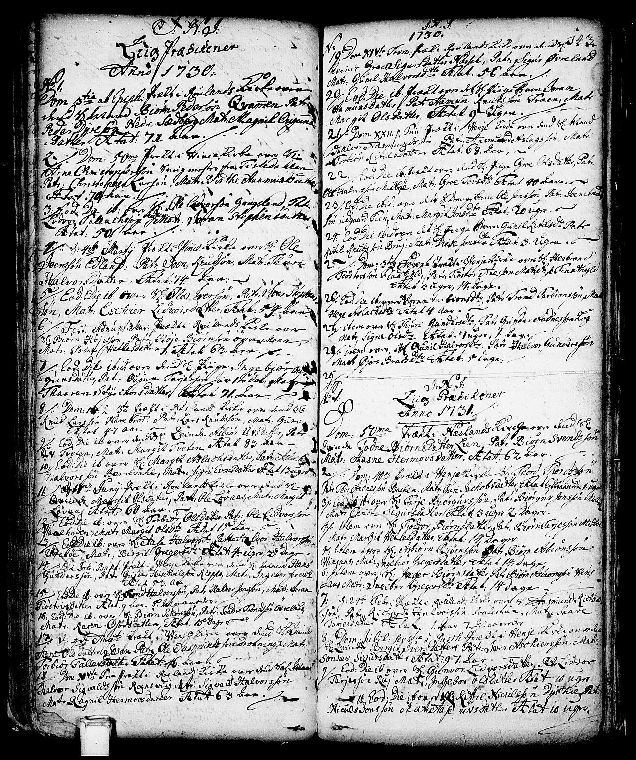 SAKO, Vinje kirkebøker, F/Fa/L0001: Ministerialbok nr. I 1, 1717-1766, s. 143
