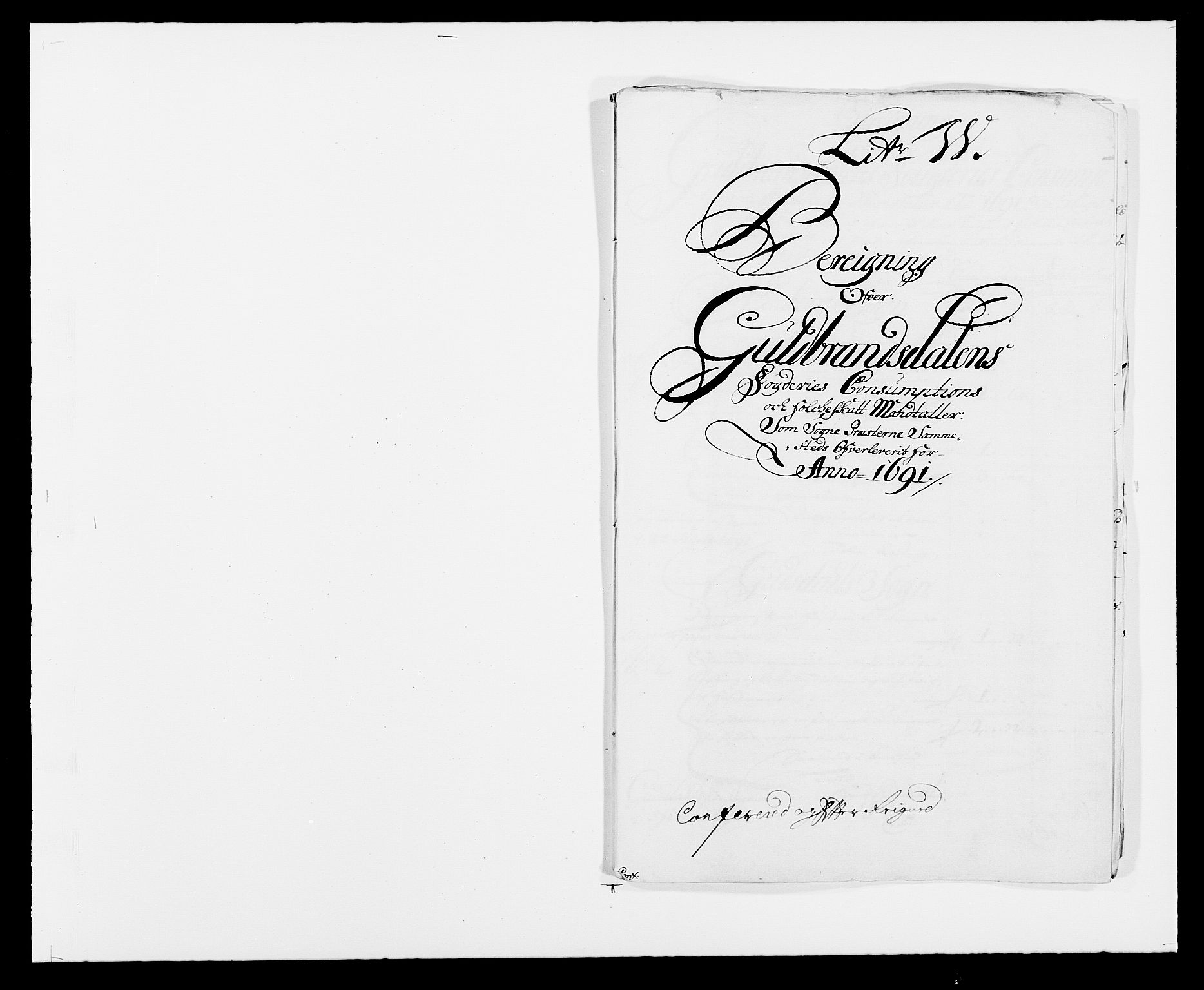 RA, Rentekammeret inntil 1814, Reviderte regnskaper, Fogderegnskap, R17/L1165: Fogderegnskap Gudbrandsdal, 1690-1692, s. 333