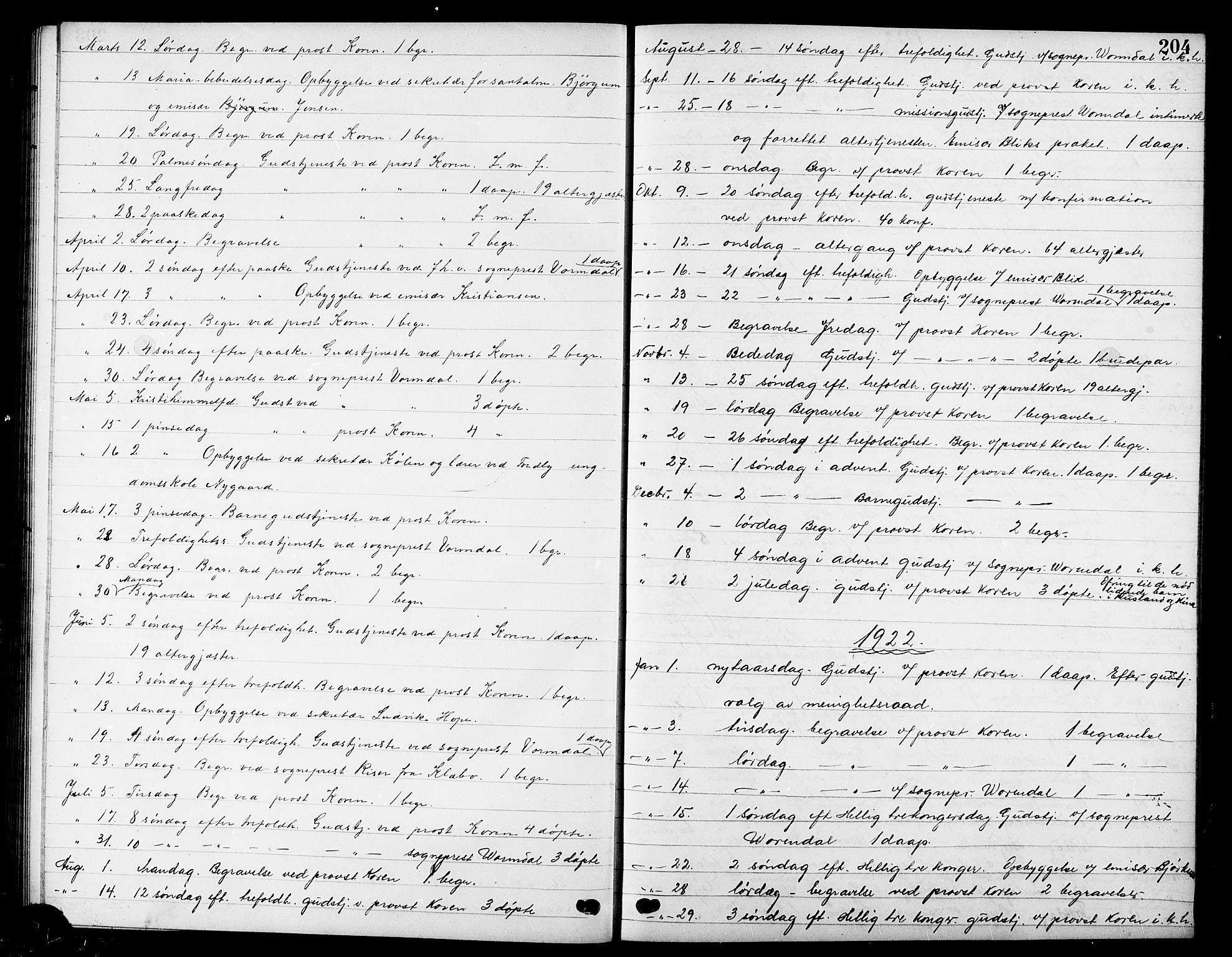 SAT, Ministerialprotokoller, klokkerbøker og fødselsregistre - Sør-Trøndelag, 669/L0831: Klokkerbok nr. 669C01, 1909-1924, s. 204