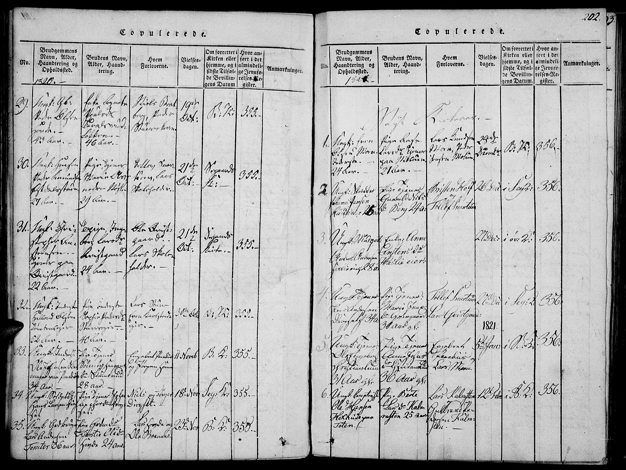 SAH, Biri prestekontor, Ministerialbok nr. 3, 1814-1828, s. 202