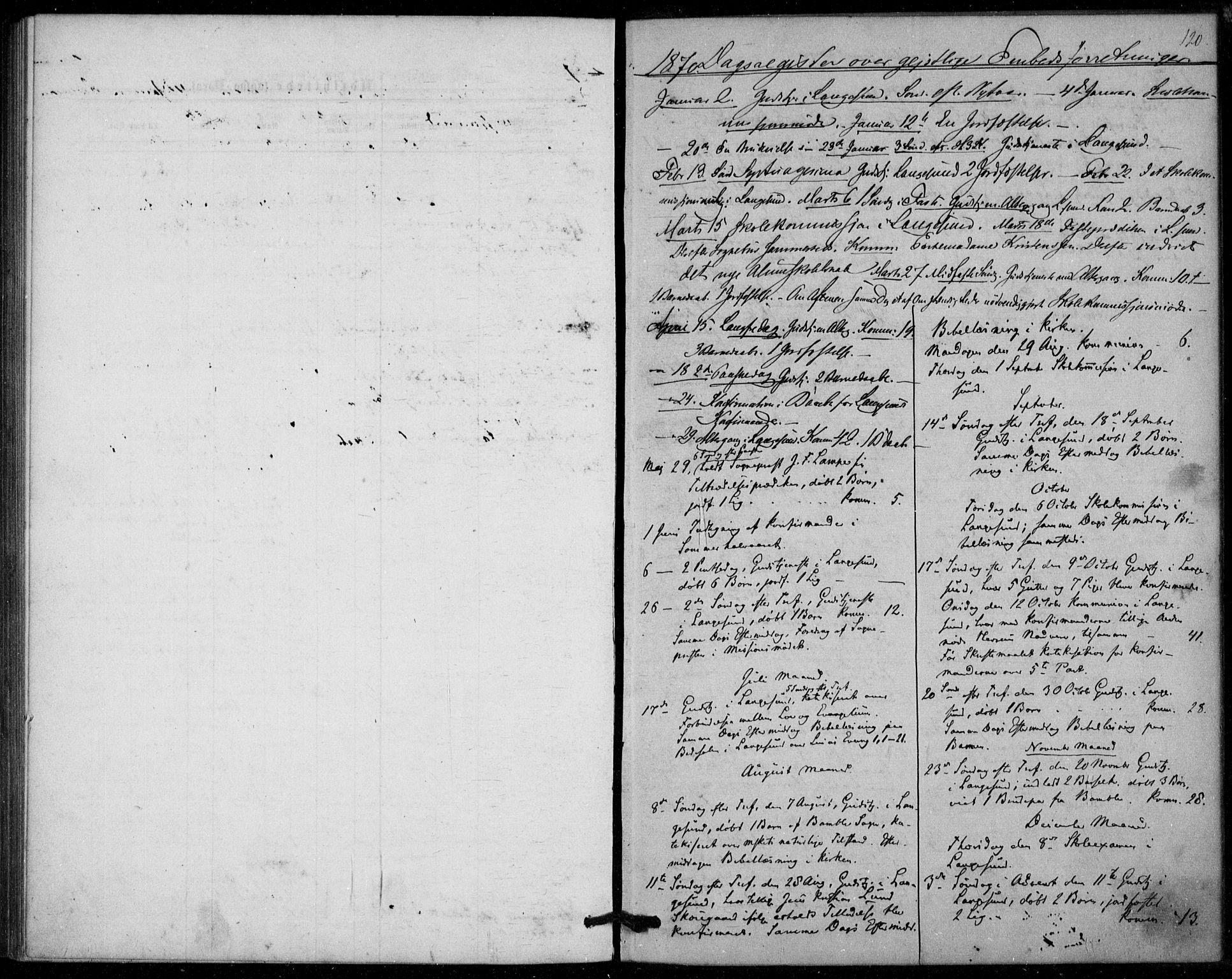 SAKO, Langesund kirkebøker, F/Fa/L0001: Ministerialbok nr. 1, 1870-1877, s. 120