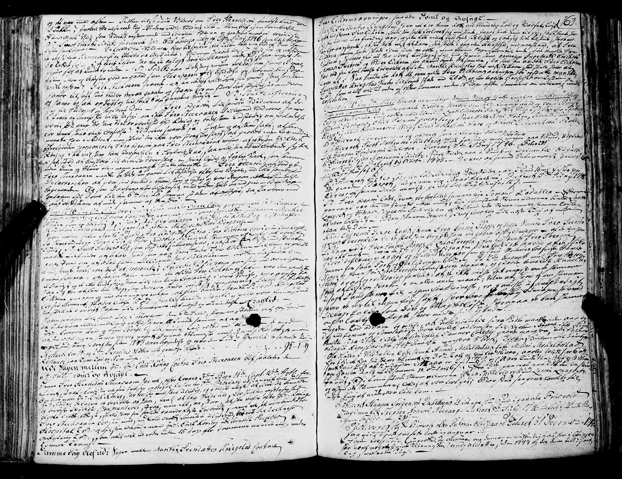 SAT, Romsdal sorenskriveri, 1/1A/L0012: Tingbok, 1740-1749, s. 163b-164a