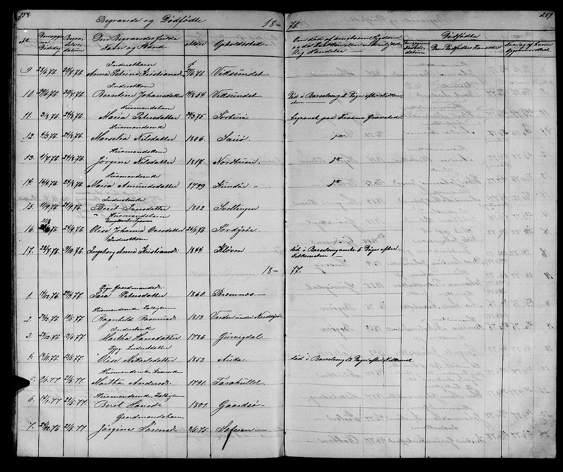 SAT, Ministerialprotokoller, klokkerbøker og fødselsregistre - Sør-Trøndelag, 640/L0583: Klokkerbok nr. 640C01, 1866-1877, s. 258-259