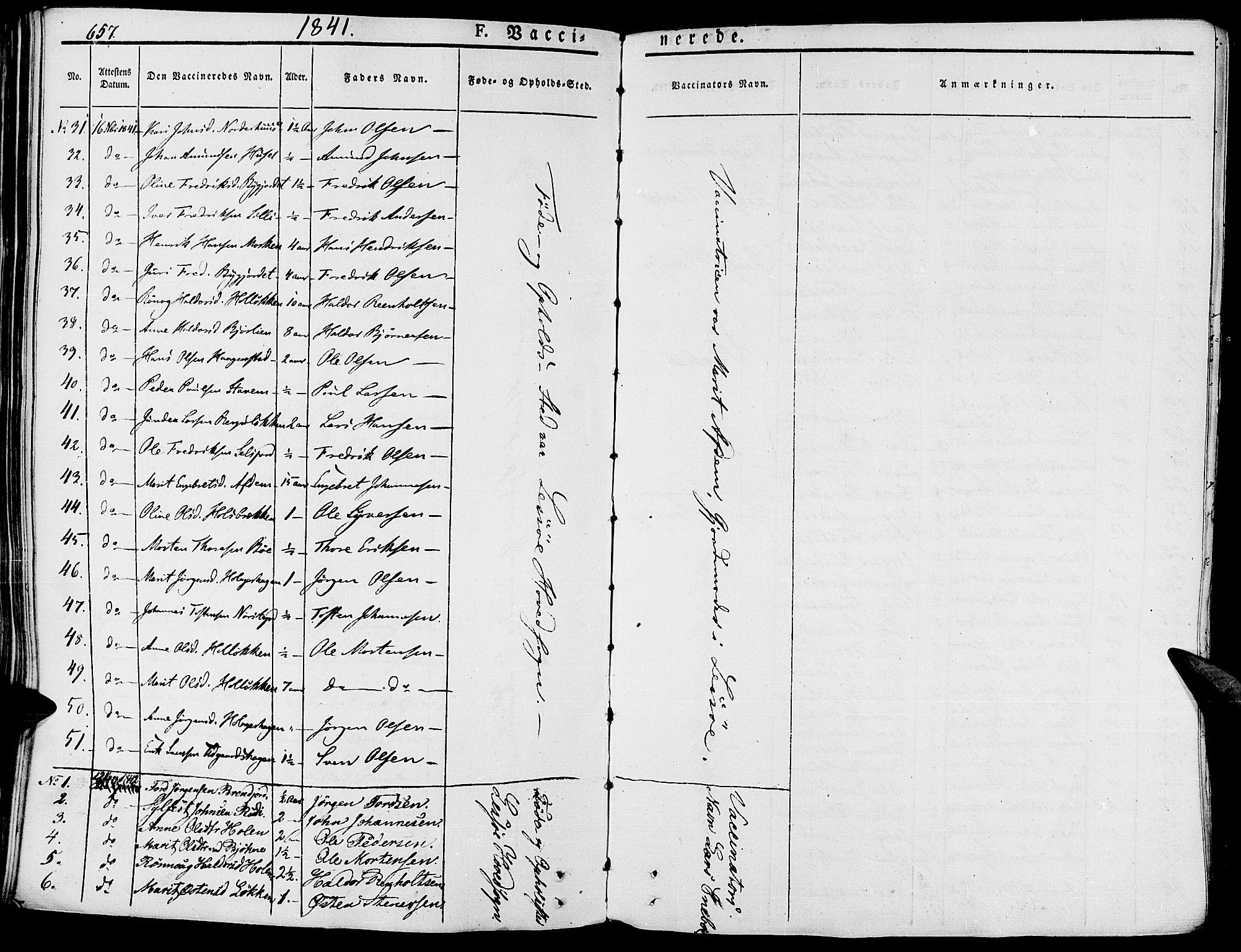 SAH, Lesja prestekontor, Ministerialbok nr. 5, 1830-1842, s. 657