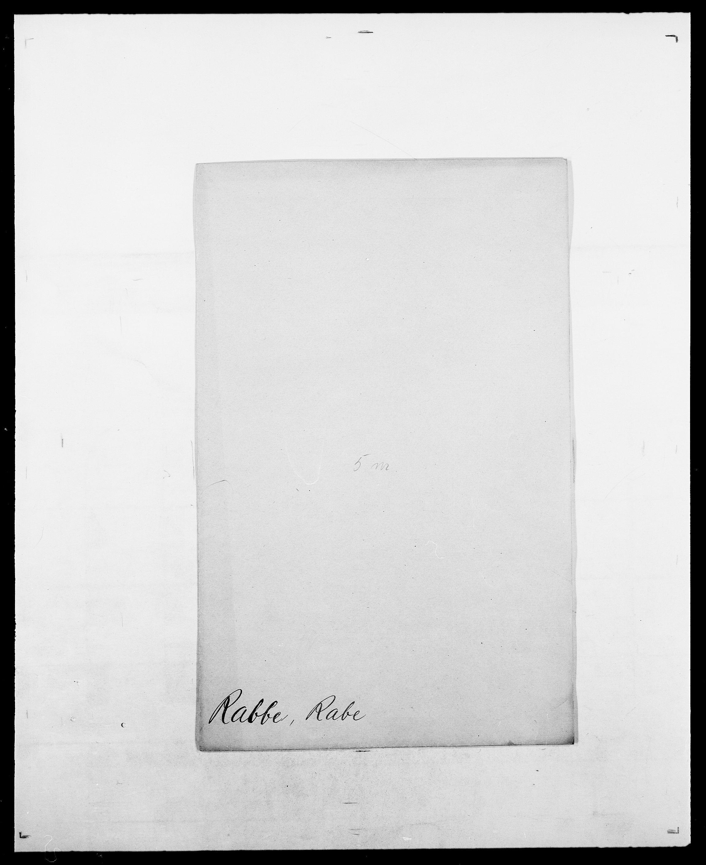 SAO, Delgobe, Charles Antoine - samling, D/Da/L0032: Rabakovsky - Rivertz, s. 3