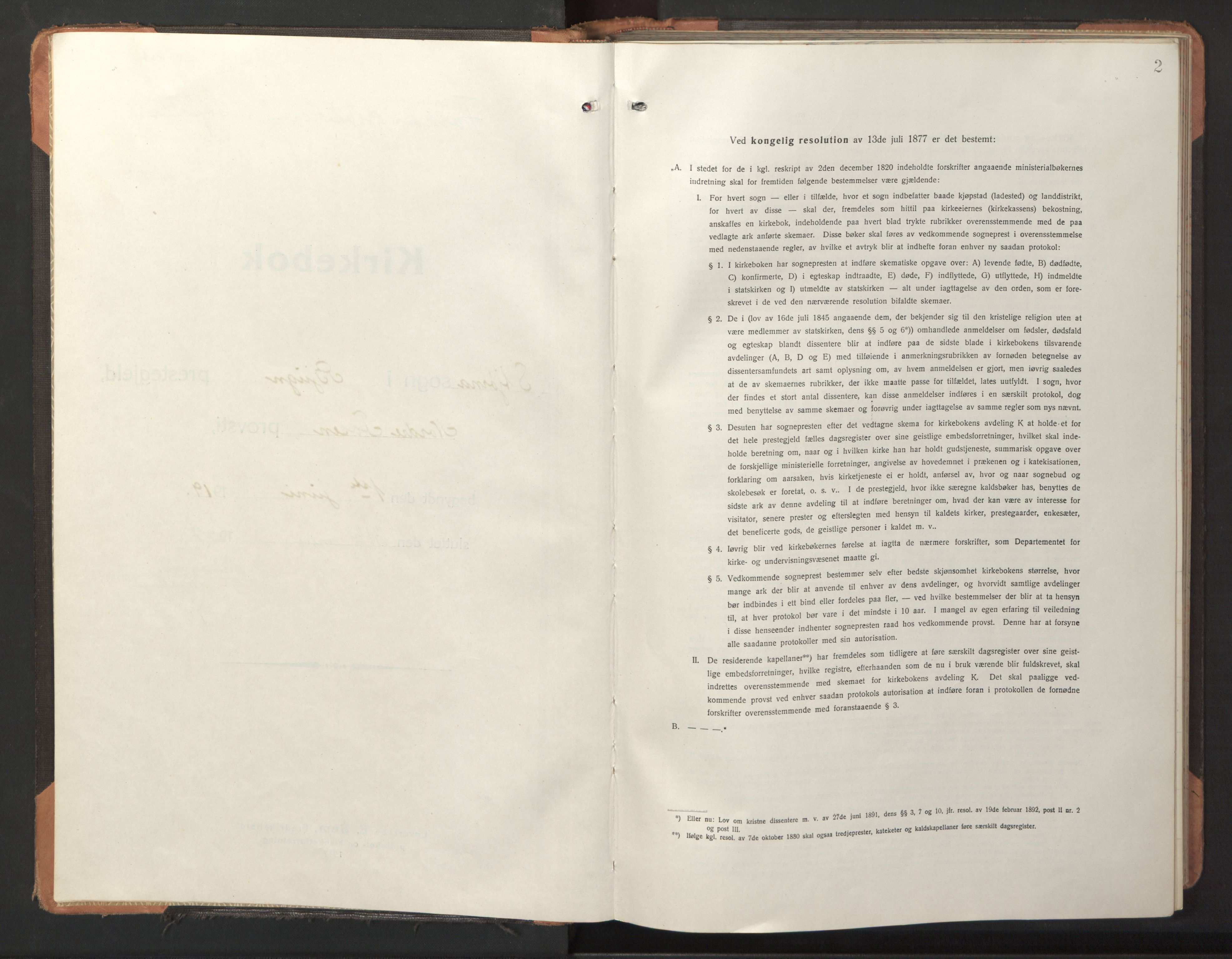 SAT, Ministerialprotokoller, klokkerbøker og fødselsregistre - Sør-Trøndelag, 653/L0658: Klokkerbok nr. 653C02, 1919-1947, s. 2