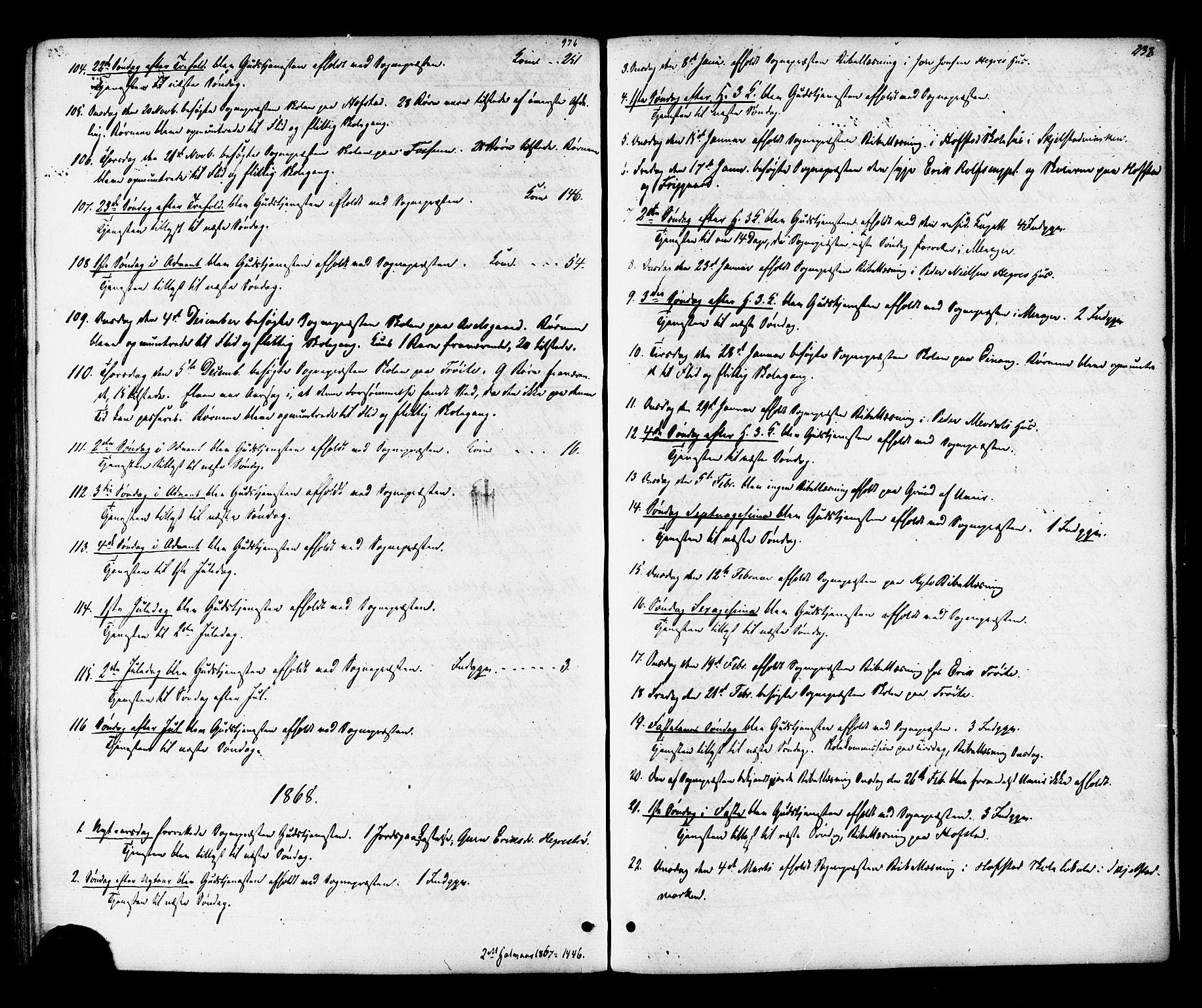 SAT, Ministerialprotokoller, klokkerbøker og fødselsregistre - Nord-Trøndelag, 703/L0029: Ministerialbok nr. 703A02, 1863-1879, s. 238