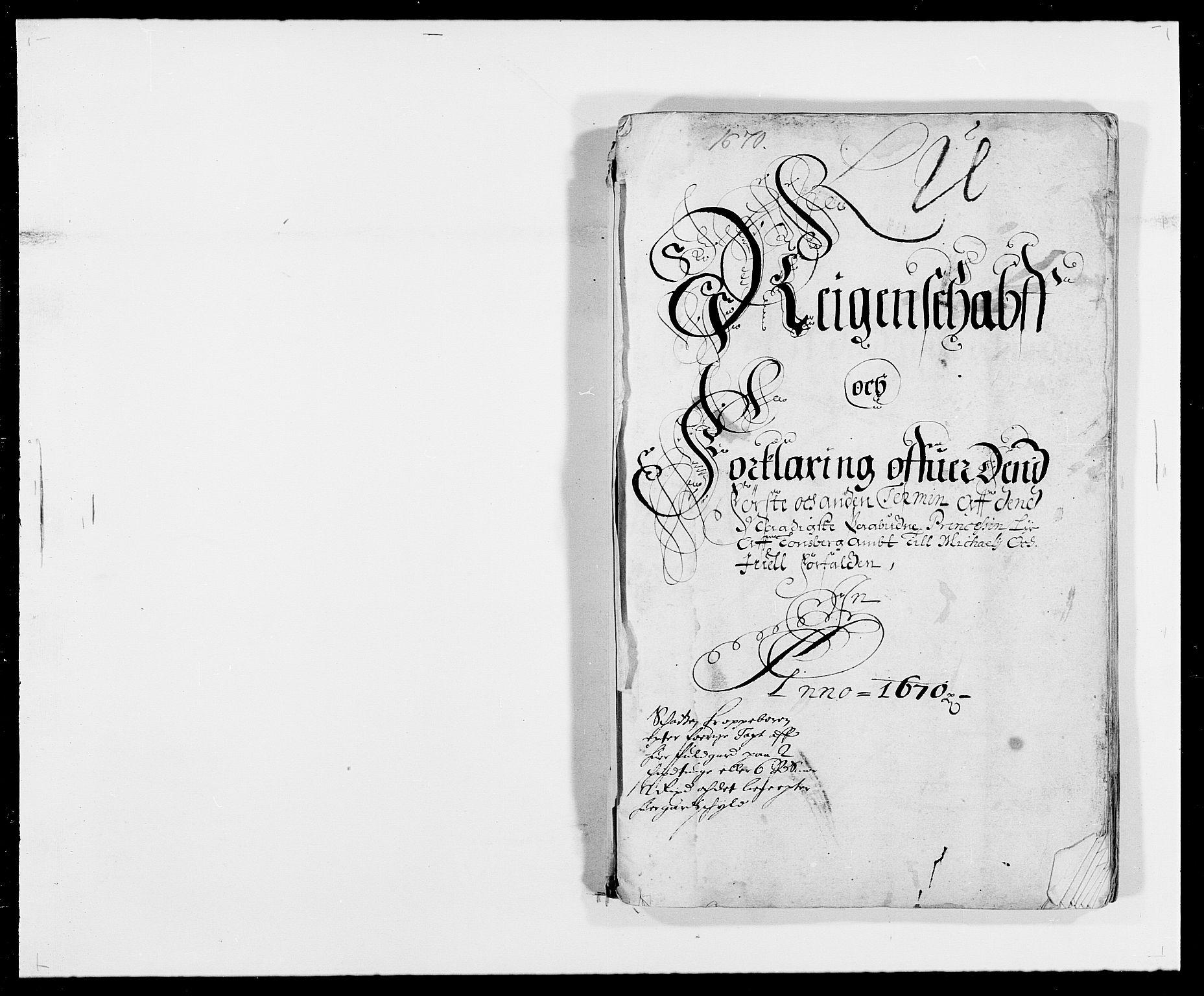 RA, Rentekammeret inntil 1814, Reviderte regnskaper, Fogderegnskap, R32/L1841: Fogderegnskap Jarlsberg grevskap, 1664-1673, s. 71
