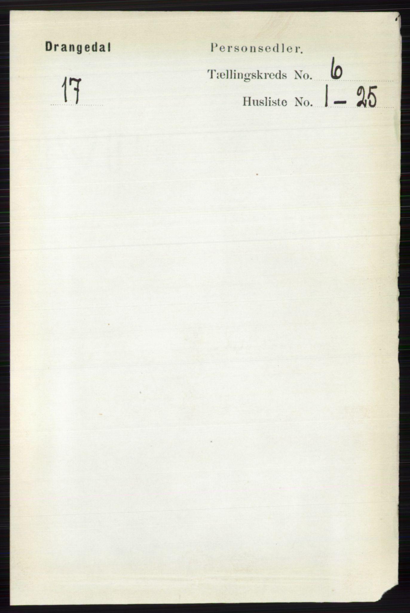 RA, Folketelling 1891 for 0817 Drangedal herred, 1891, s. 1975