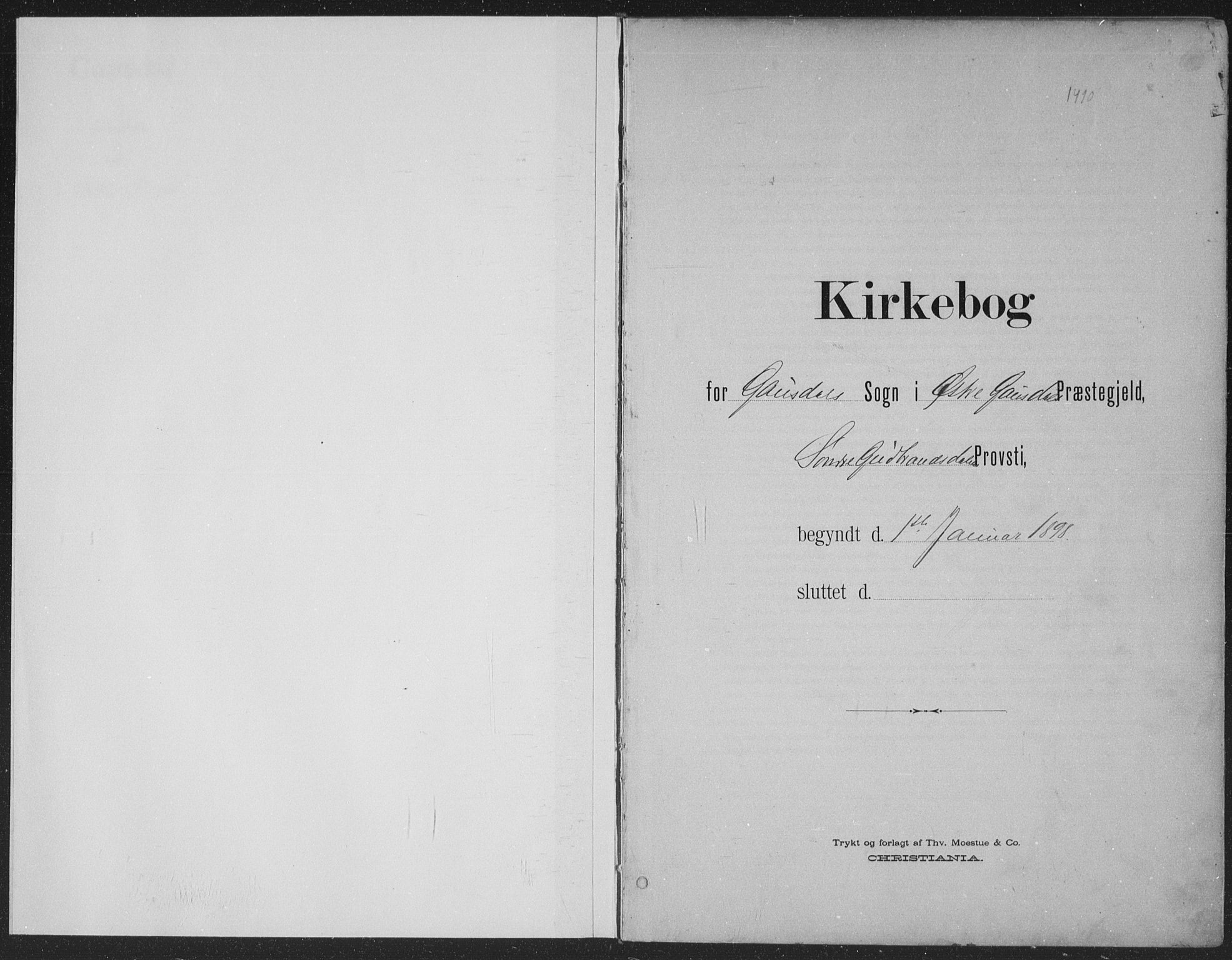 SAH, Østre Gausdal prestekontor, Ministerialbok nr. 4, 1898-1914