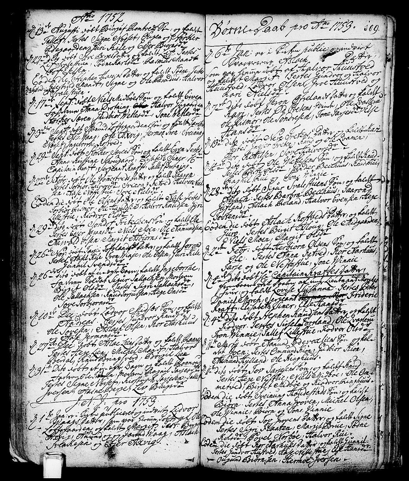 SAKO, Vinje kirkebøker, F/Fa/L0001: Ministerialbok nr. I 1, 1717-1766, s. 109