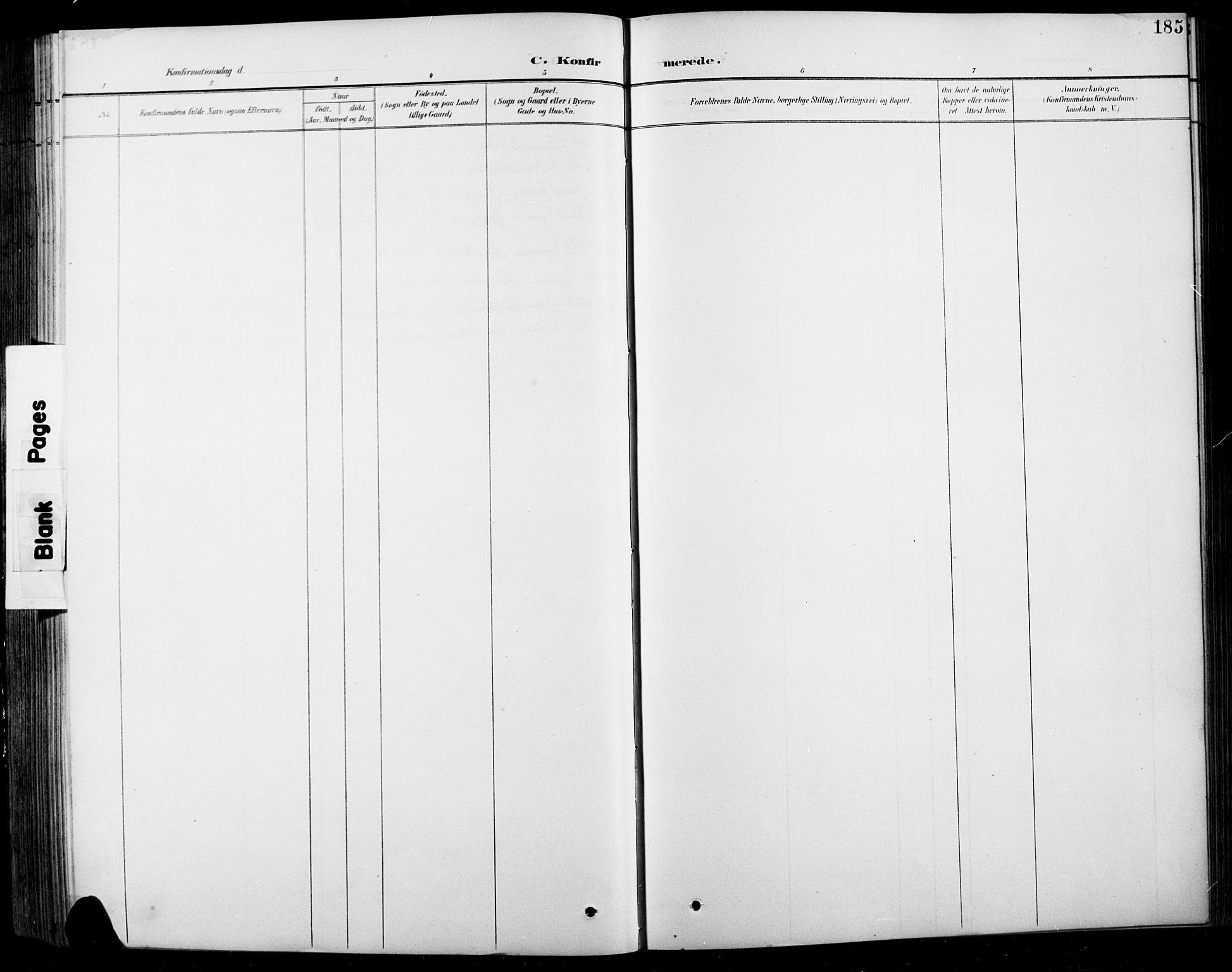 SAH, Sel prestekontor, Klokkerbok nr. 1, 1894-1923, s. 185