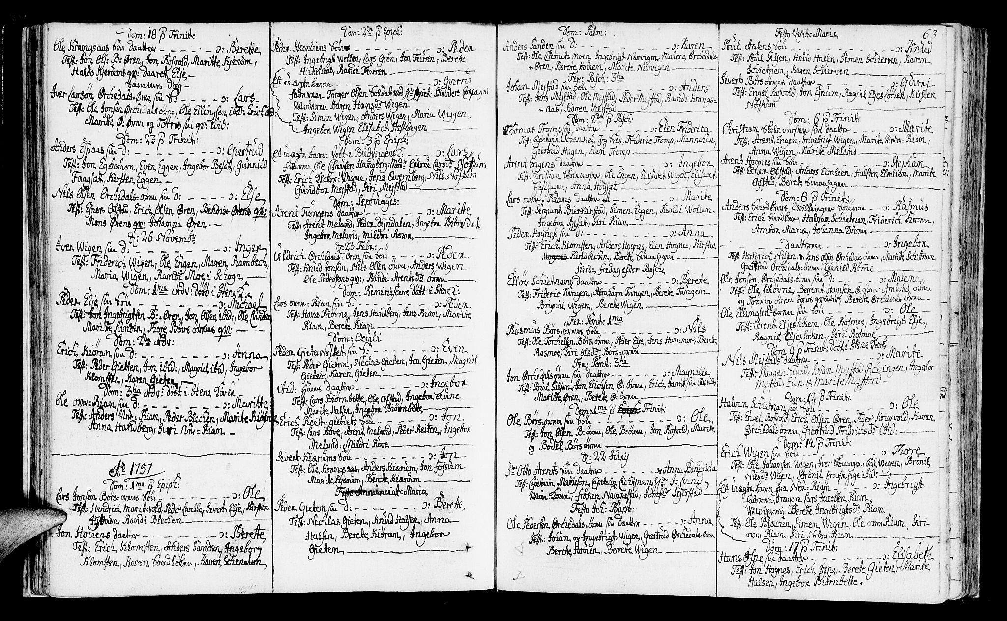 SAT, Ministerialprotokoller, klokkerbøker og fødselsregistre - Sør-Trøndelag, 665/L0768: Ministerialbok nr. 665A03, 1754-1803, s. 63