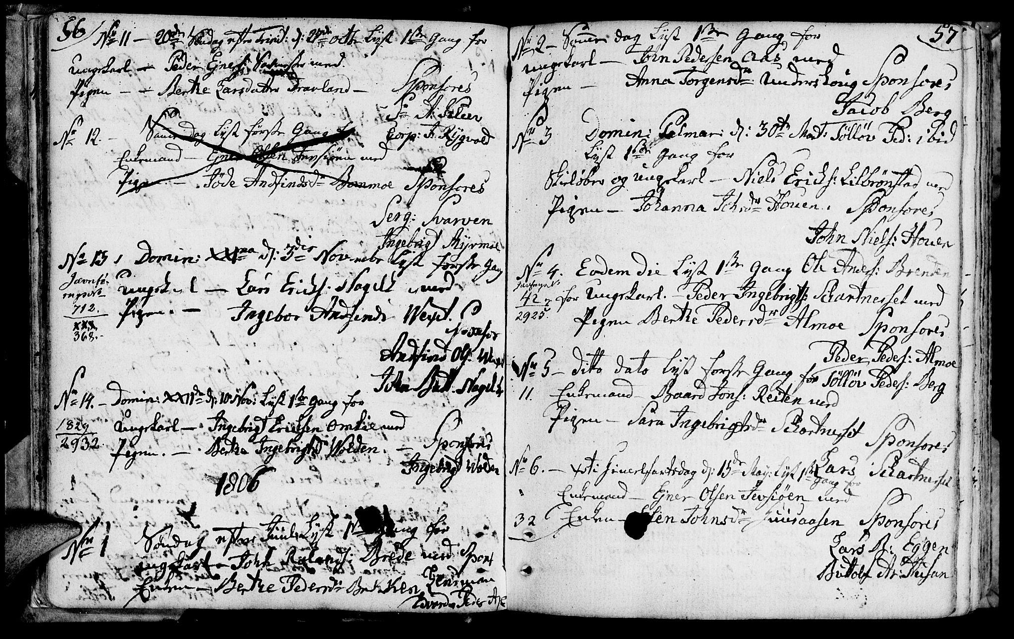 SAT, Ministerialprotokoller, klokkerbøker og fødselsregistre - Nord-Trøndelag, 749/L0468: Ministerialbok nr. 749A02, 1787-1817, s. 56-57